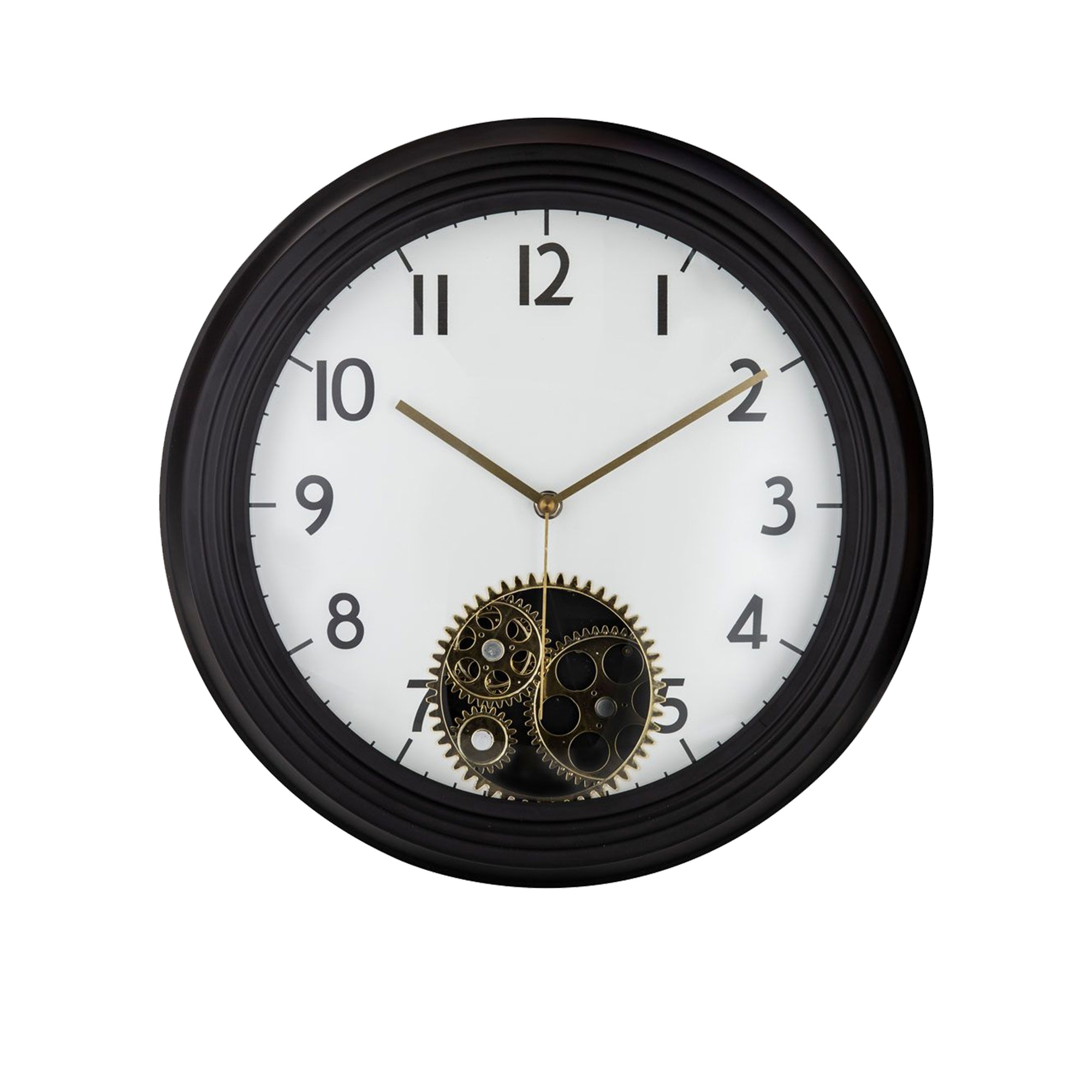 Amalfi Etan Wall Clock 38cm White, Black & Gold