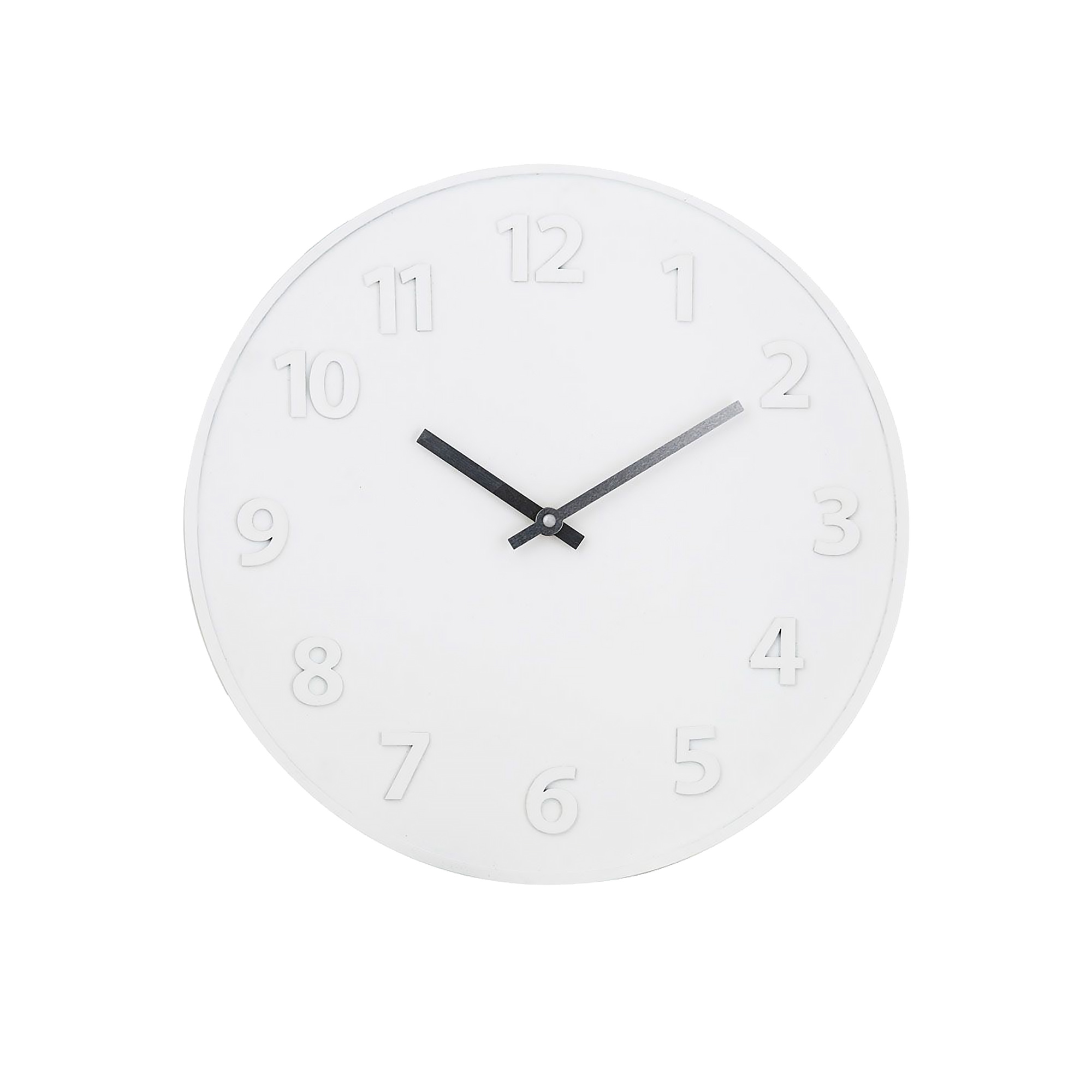 Amalfi Jude Wall Clock 40cm White, Natural & Silver