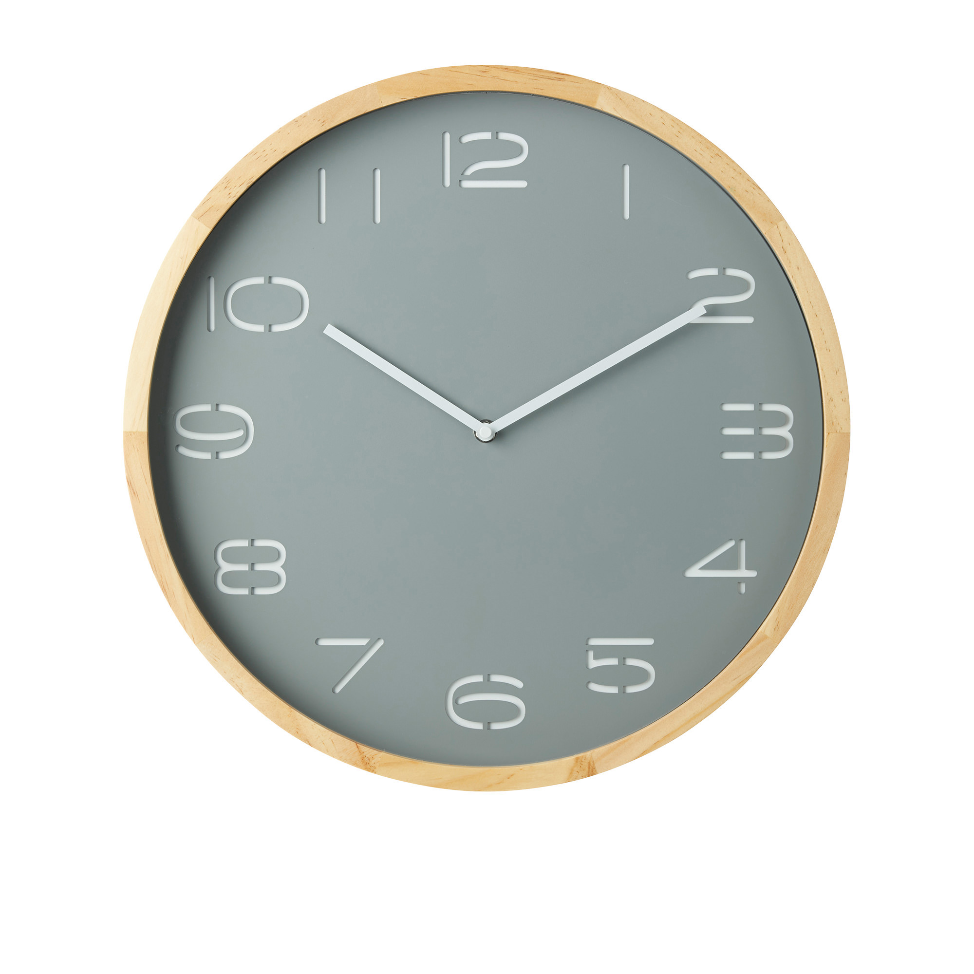 Amalfi Leni Wall Clock Pine Wood & Grey