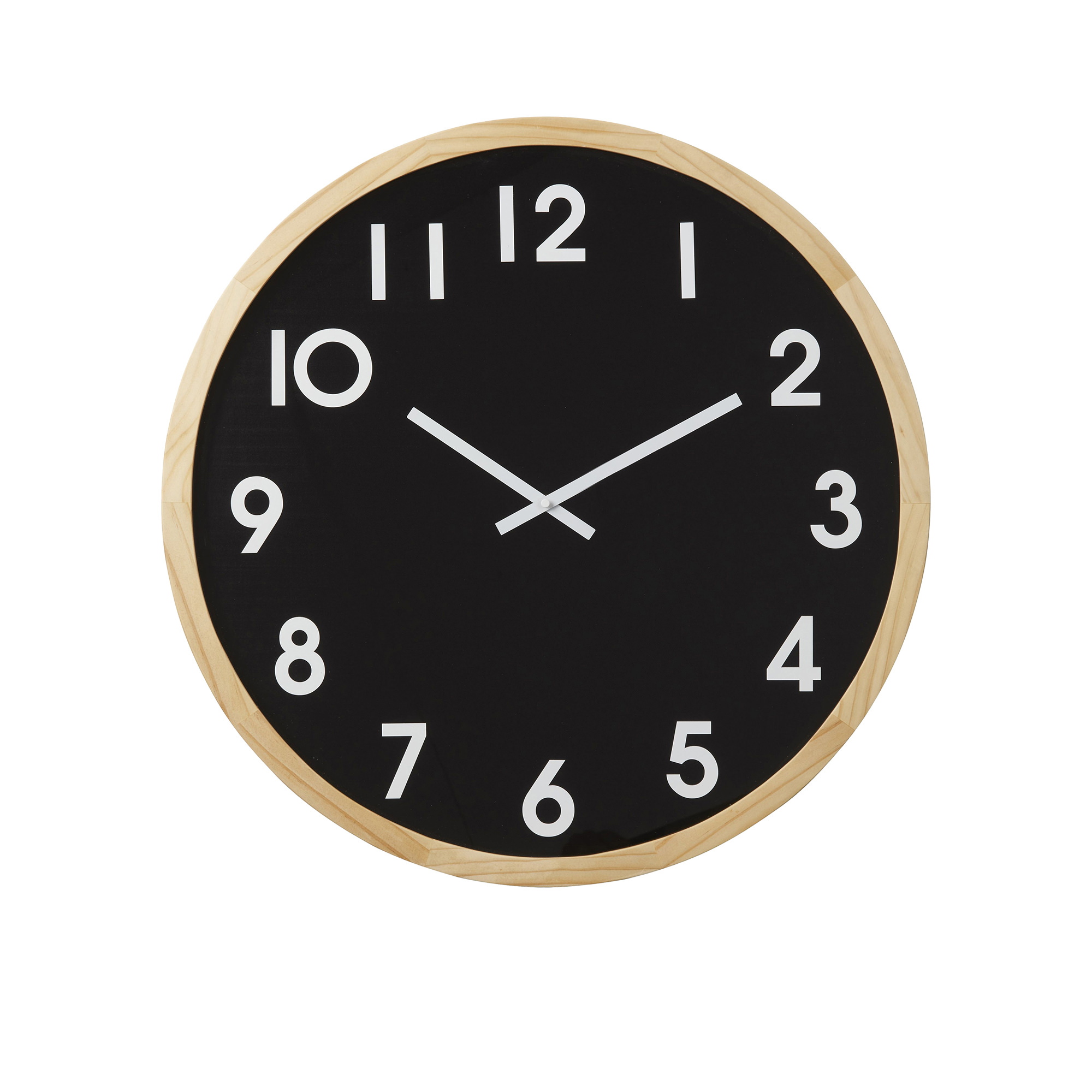 Amalfi Leonard Wall Clock 41.5cm Natural/Black
