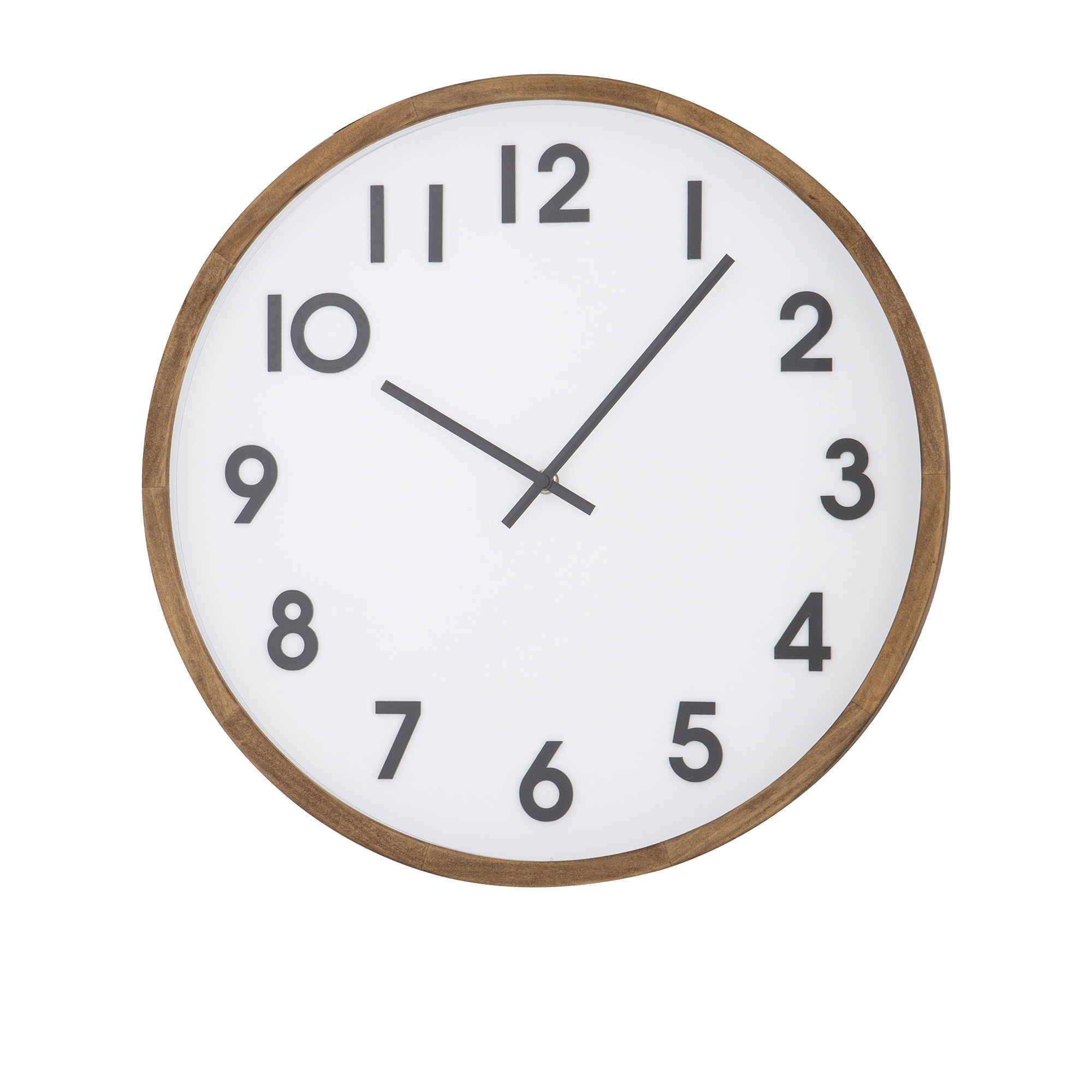 Amalfi Leonard Wall Clock 41.5cm White, Black & Natural