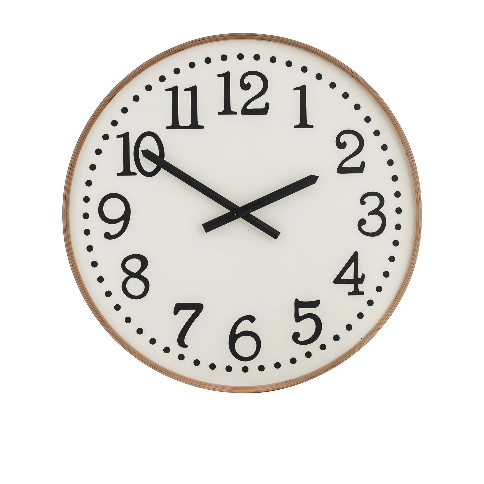Amalfi Thomas Wall Clock 60cm White & Natural