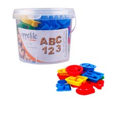 Alphabet & Number Cookie Cutters in Tub 36pc