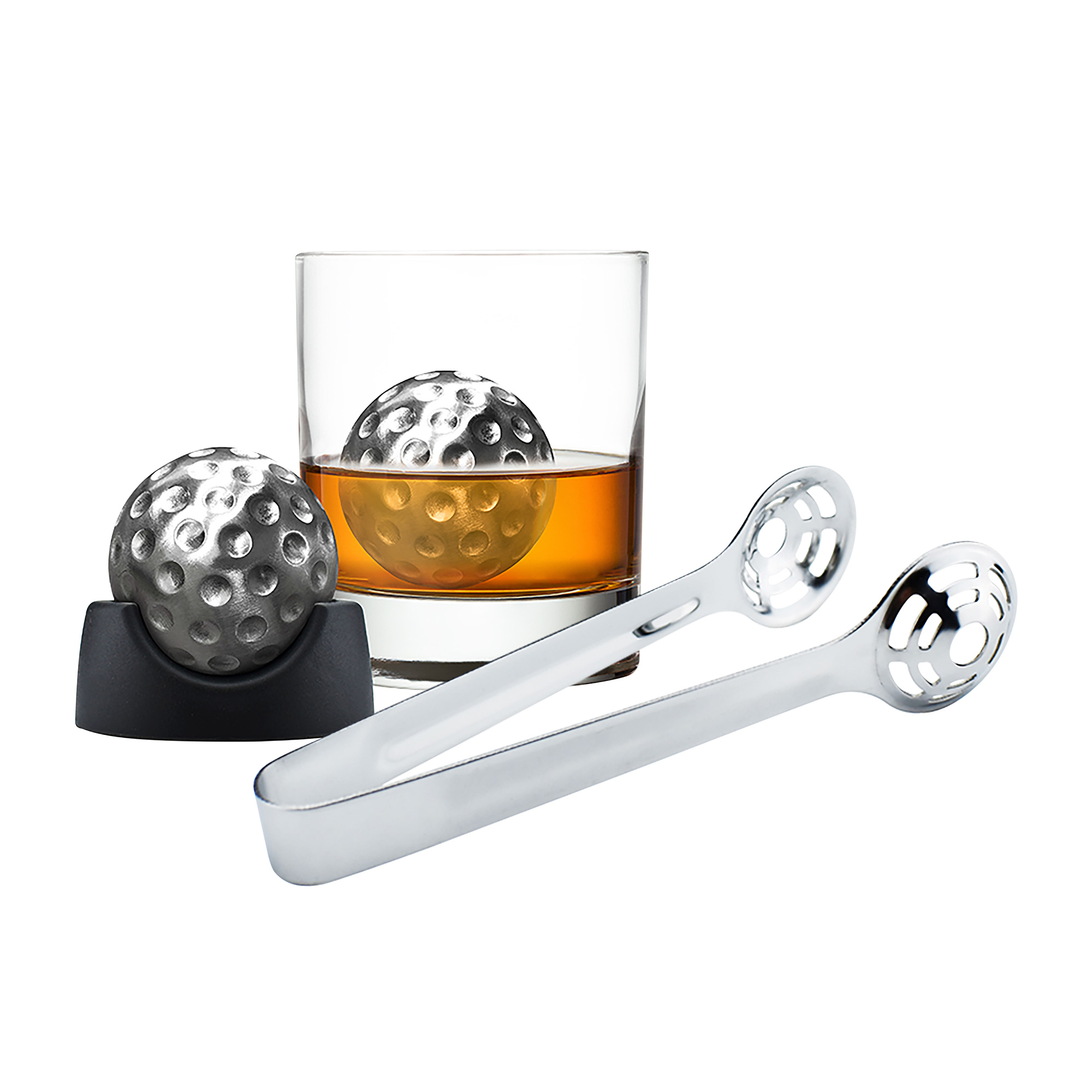 Avanti 6pc Golf Ball Whisky Ice Set w/ Tongs