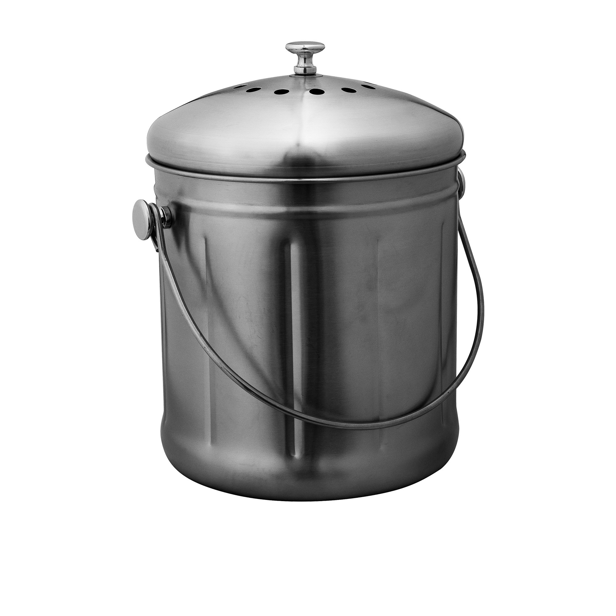 Avanti Compost Bin 10L Brushed Stainless Steel