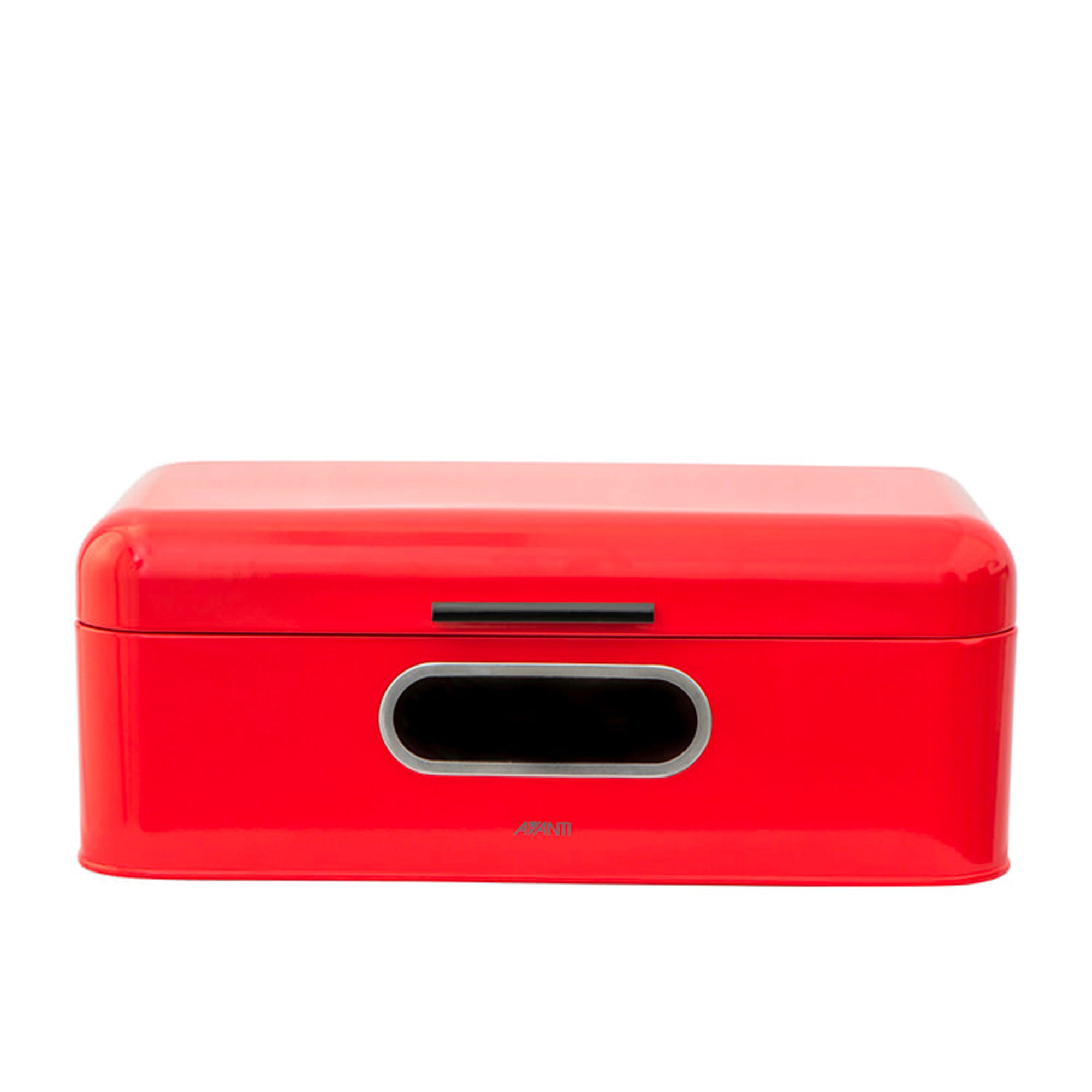 Avanti Retro Bread Bin with Window 42x22.5x16cm Red