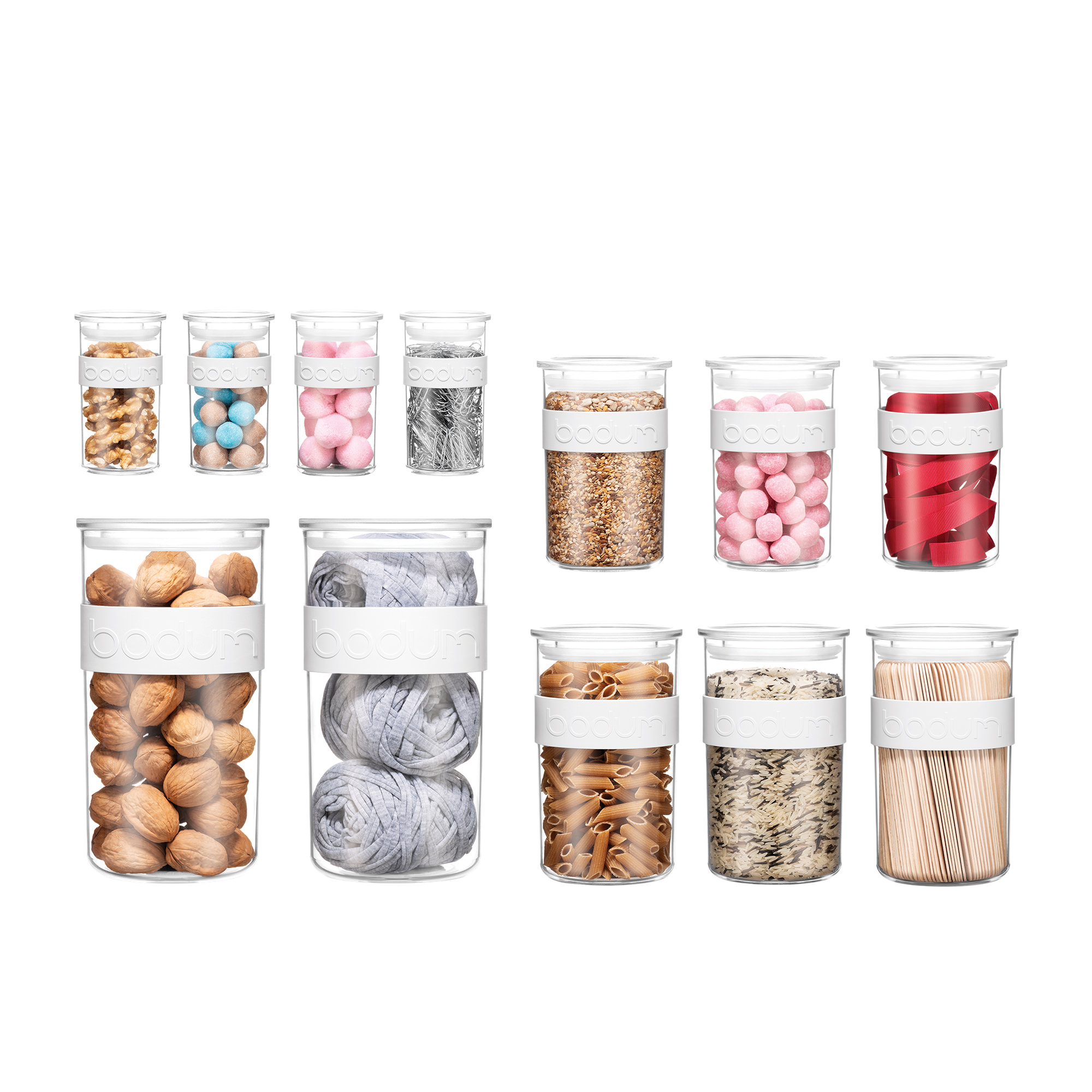 Bodum Presso 12pc Storage Jar Set Shadow