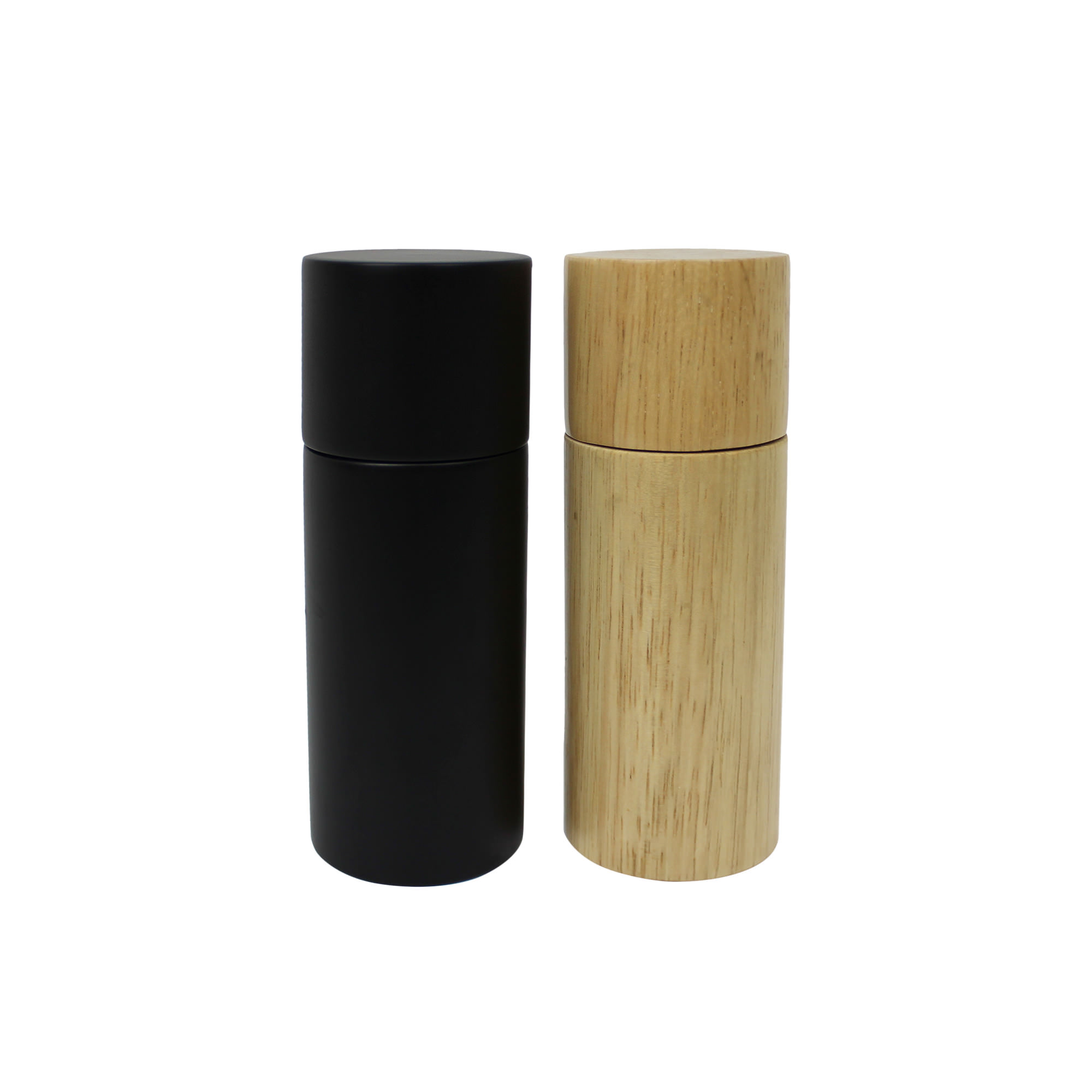 Bialetti 2pc Salt & Pepper Grinder Set 15.5cm Black and Natural