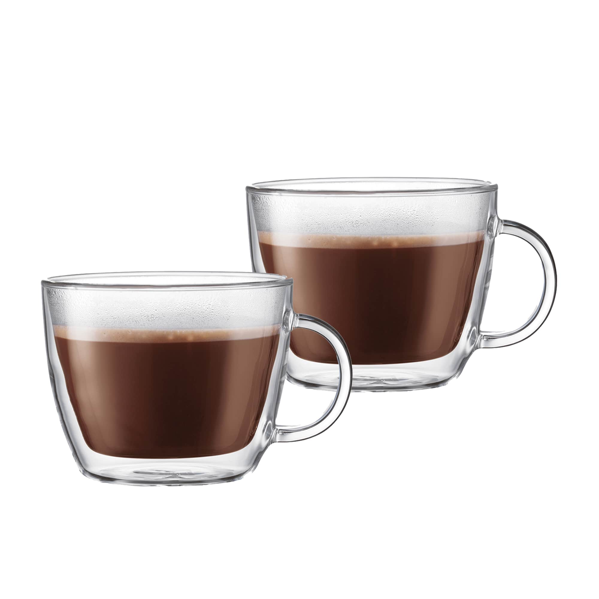 Bodum Bistro 2pc Double Wall Cafe Latte Cup Set 450ml