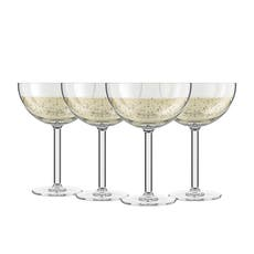 <b>Bodum</b> Oktett 4pc Champagne Coupe Glass Set 280ml