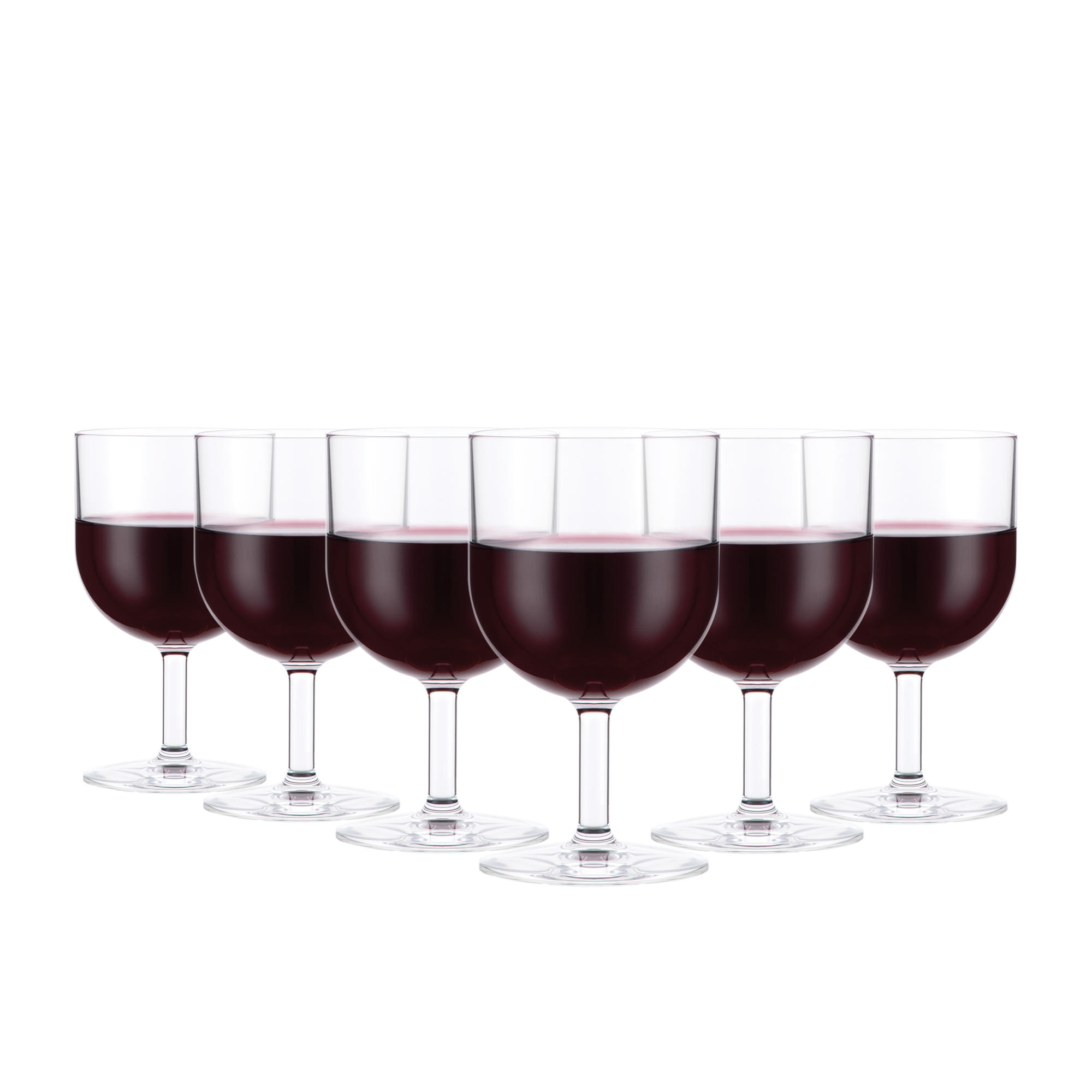 Bodum Oktett 6pc Red Wine Glass Set 250ml
