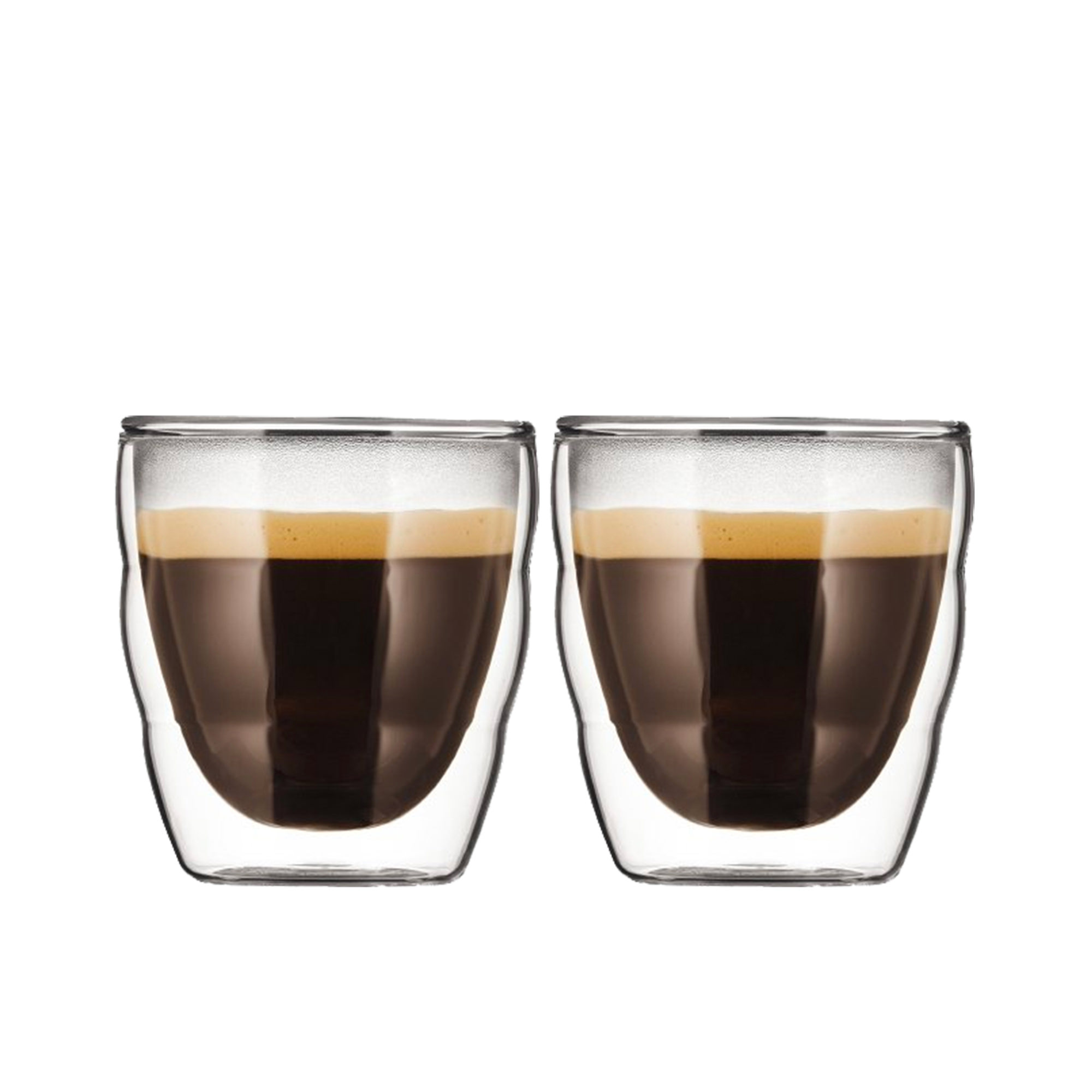 Bodum Pavina 2pc Glass Double Wall Glass 80ml