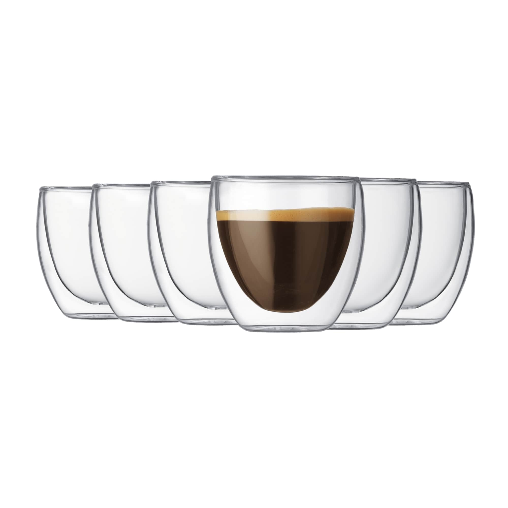 Bodum Pavina 6pc Glass Double Wall Glass 80ml