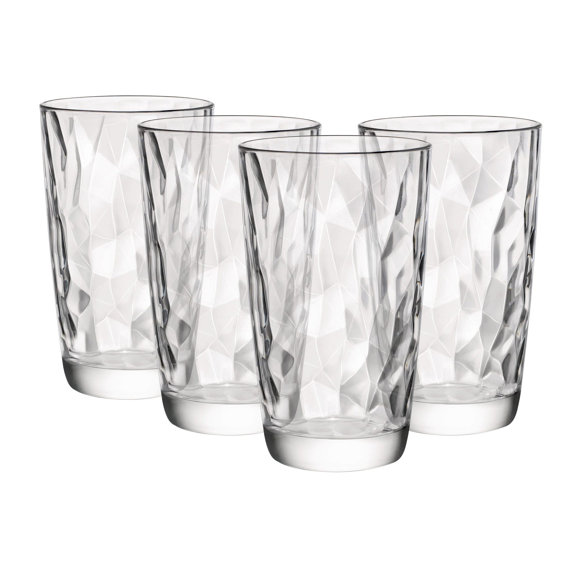 Bormioli Rocco Diamond 4pc Cooler Glass Set 470ml