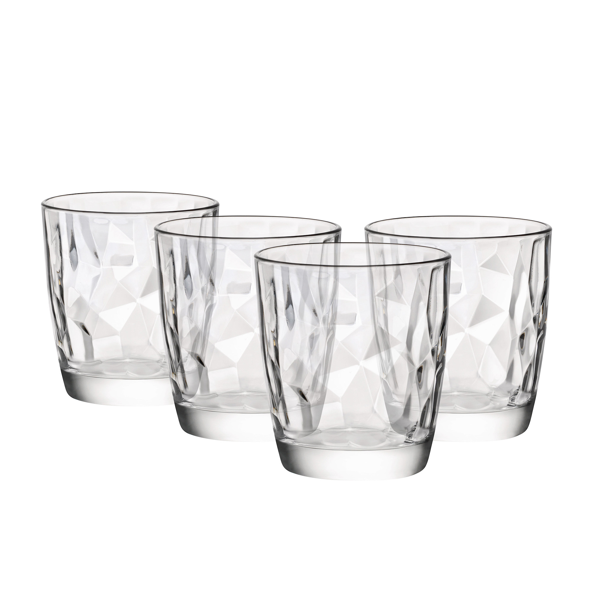 Bormioli Rocco Diamond 4pc DOF Glass Set 390ml