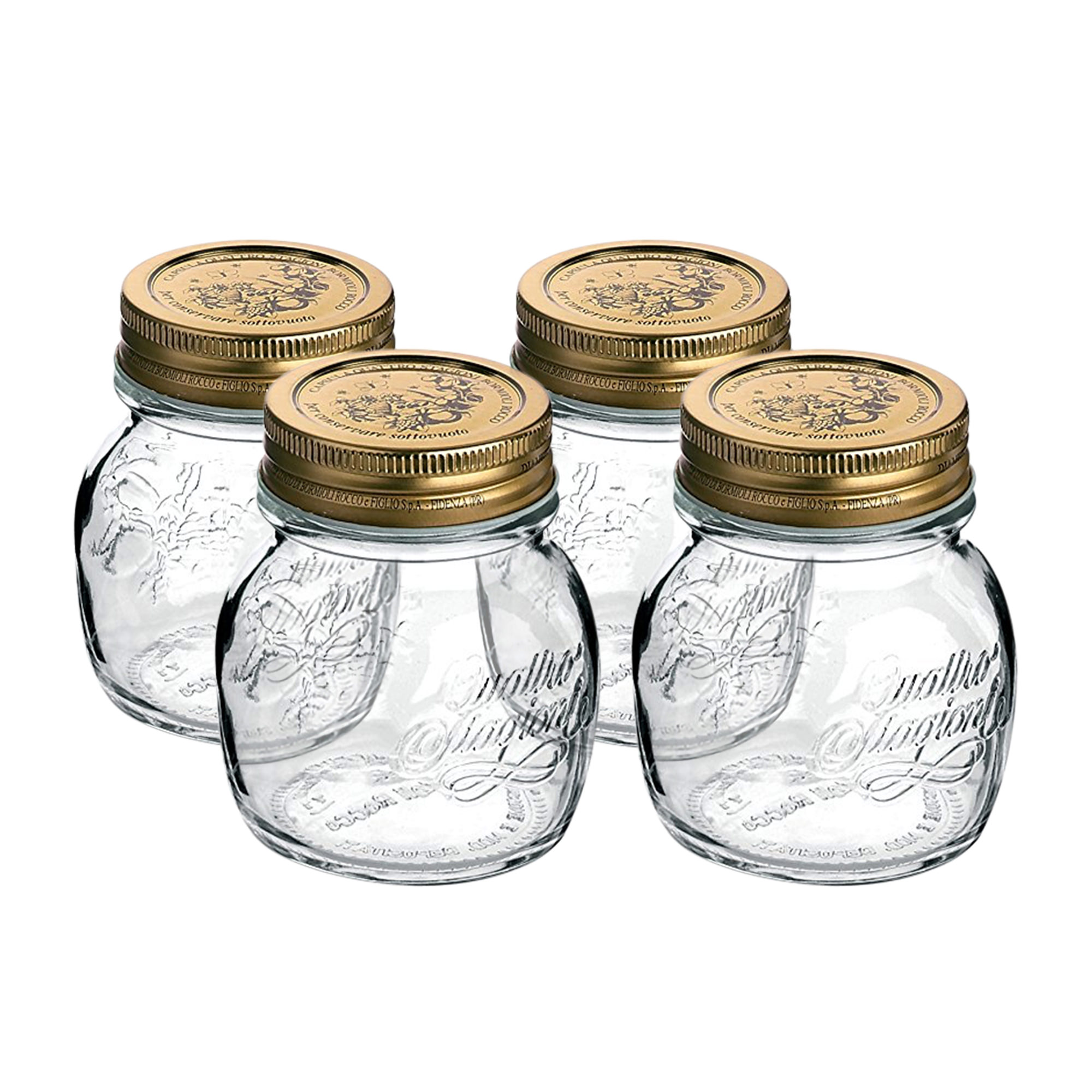 Bormioli Rocco Quattro Stagioni Storage Jars 250ml 4pc Set