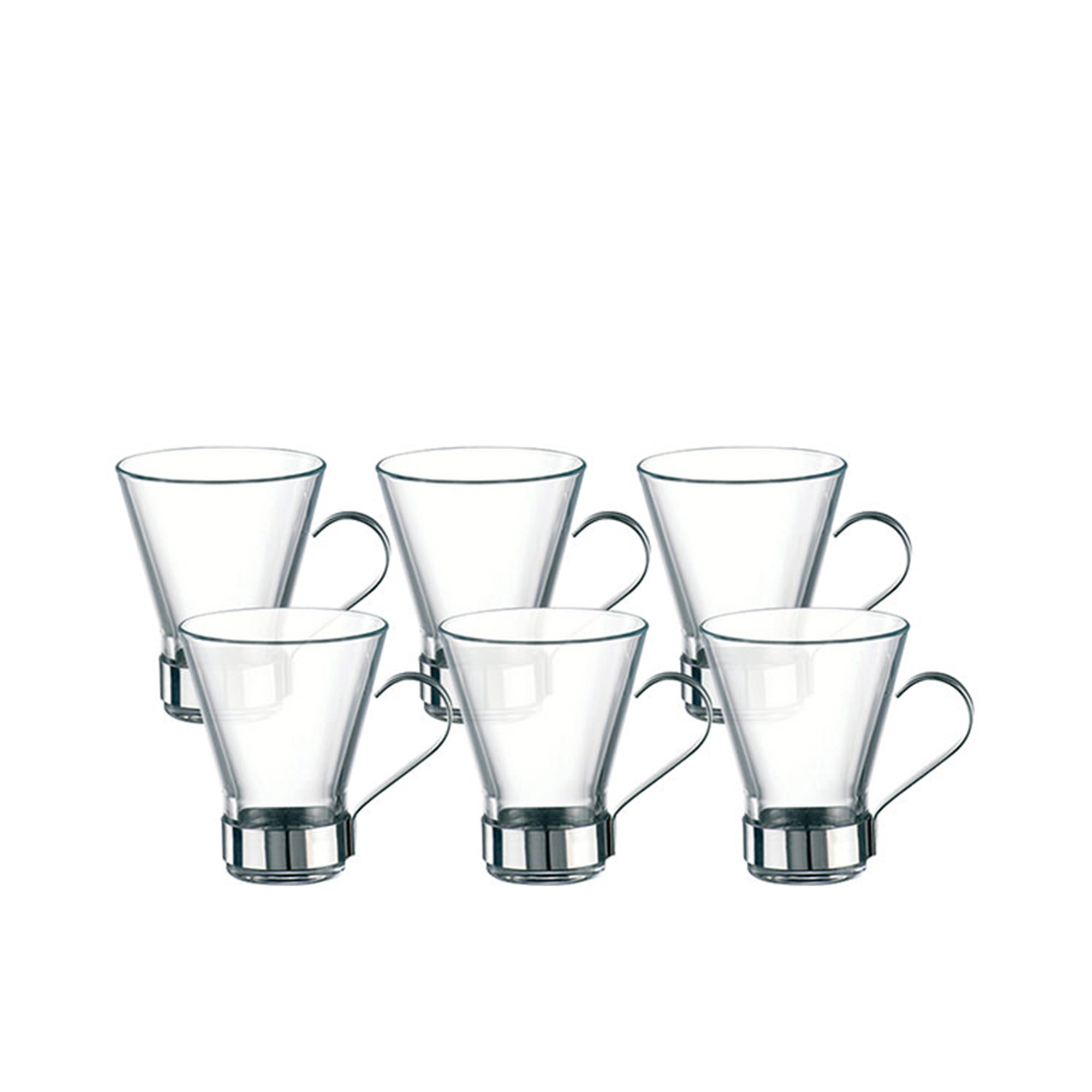 Bormioli Rocco Ypsilon 6pc Cappuccino Cup Set 220ml