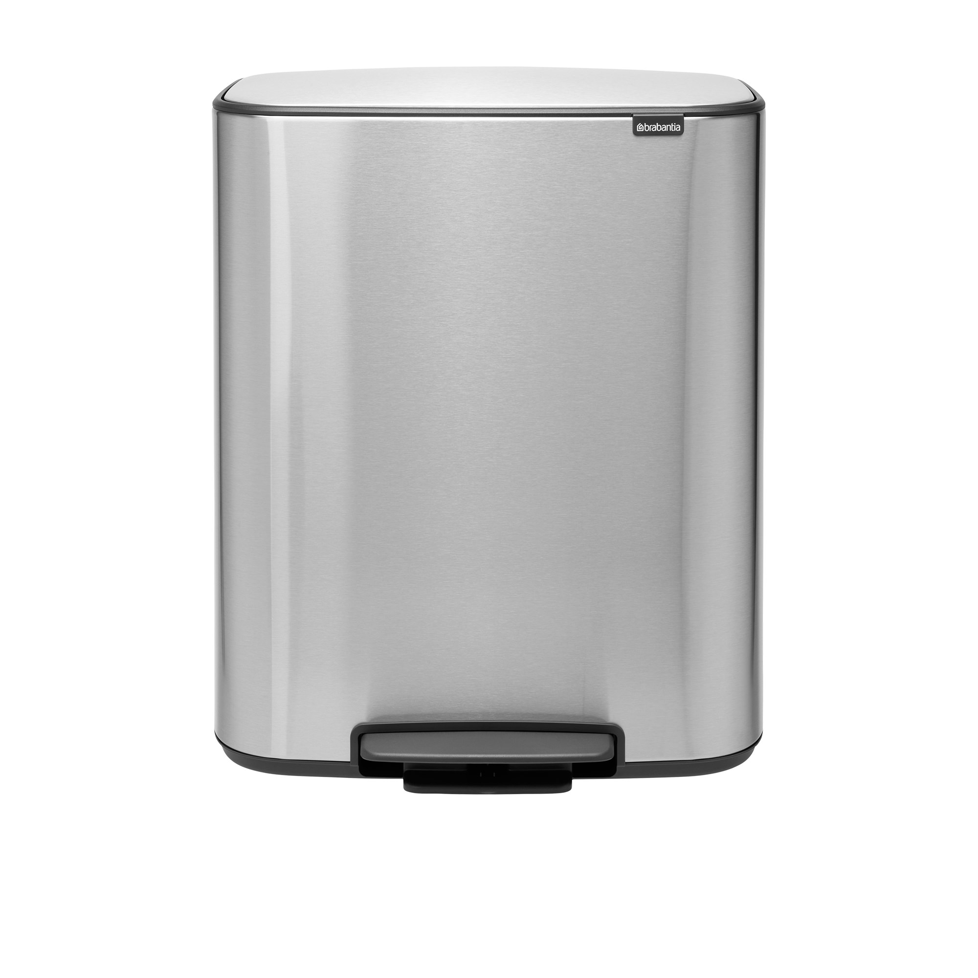 Brabantia Bo Fingerprint Proof Pedal Bin 60L Matte Steel