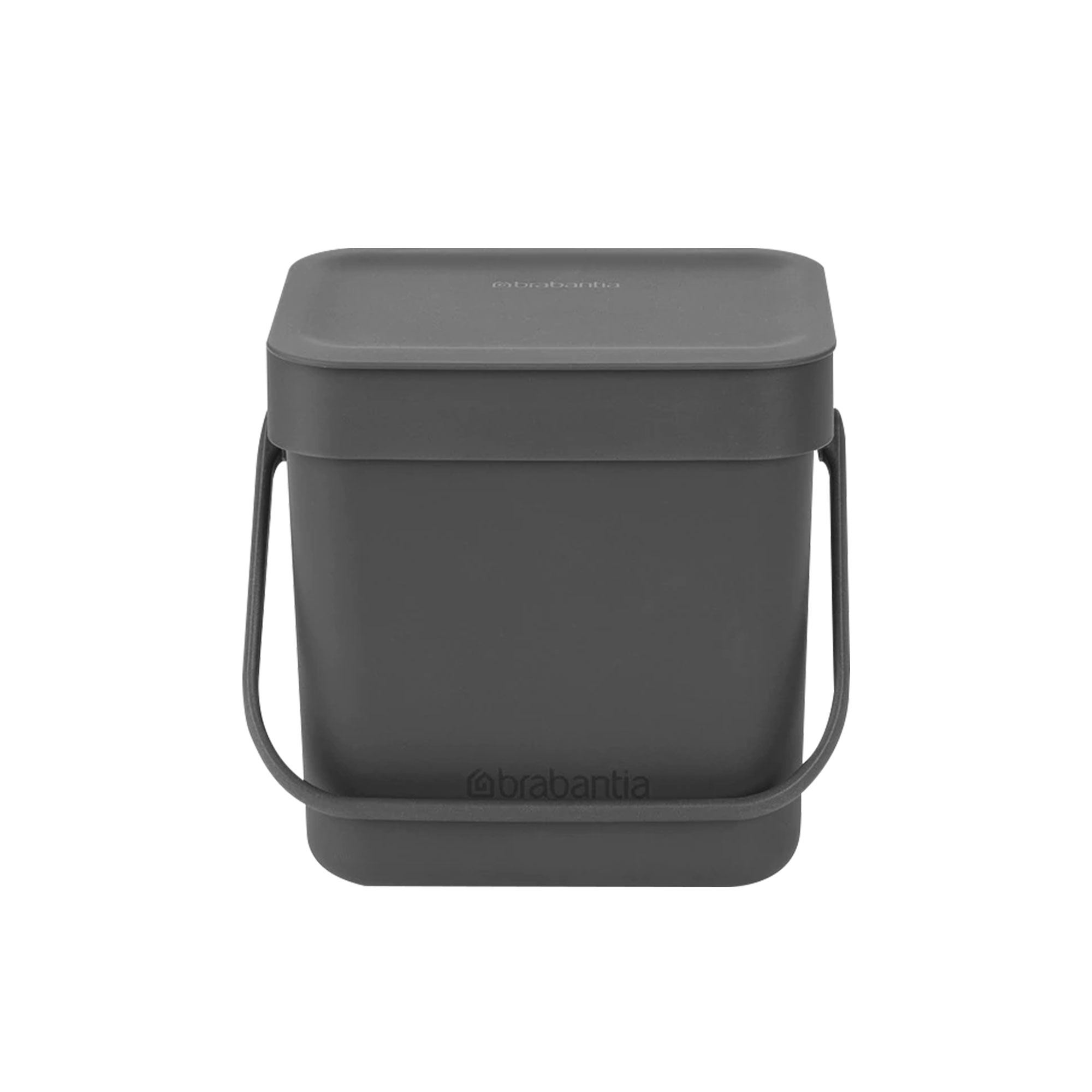 Brabantia Sort & Go Compost Waste Bin 3L Grey