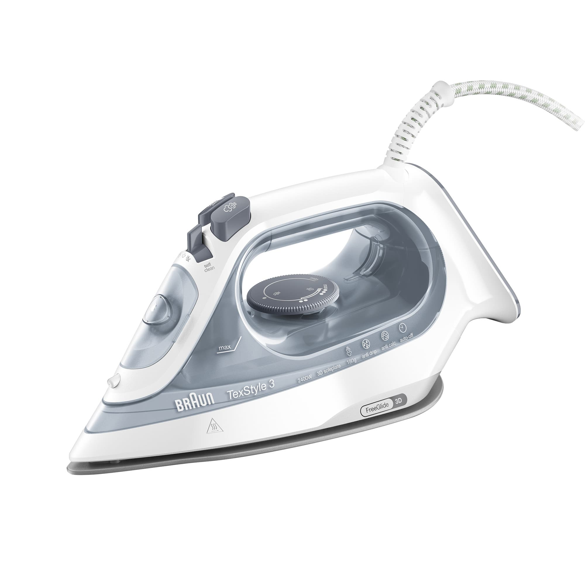 Braun TexStyle 3 Steam Iron Grey
