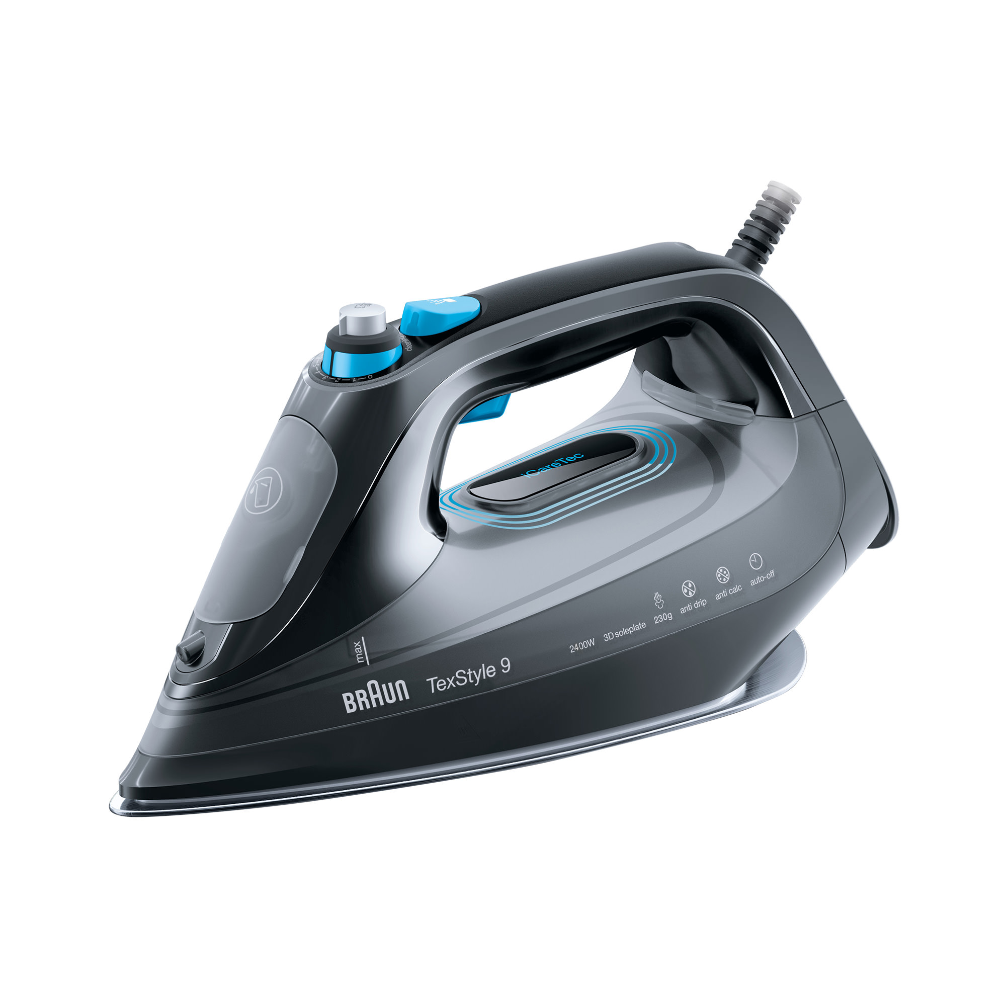 Braun TexStyle 9 Steam Iron Onyx Black
