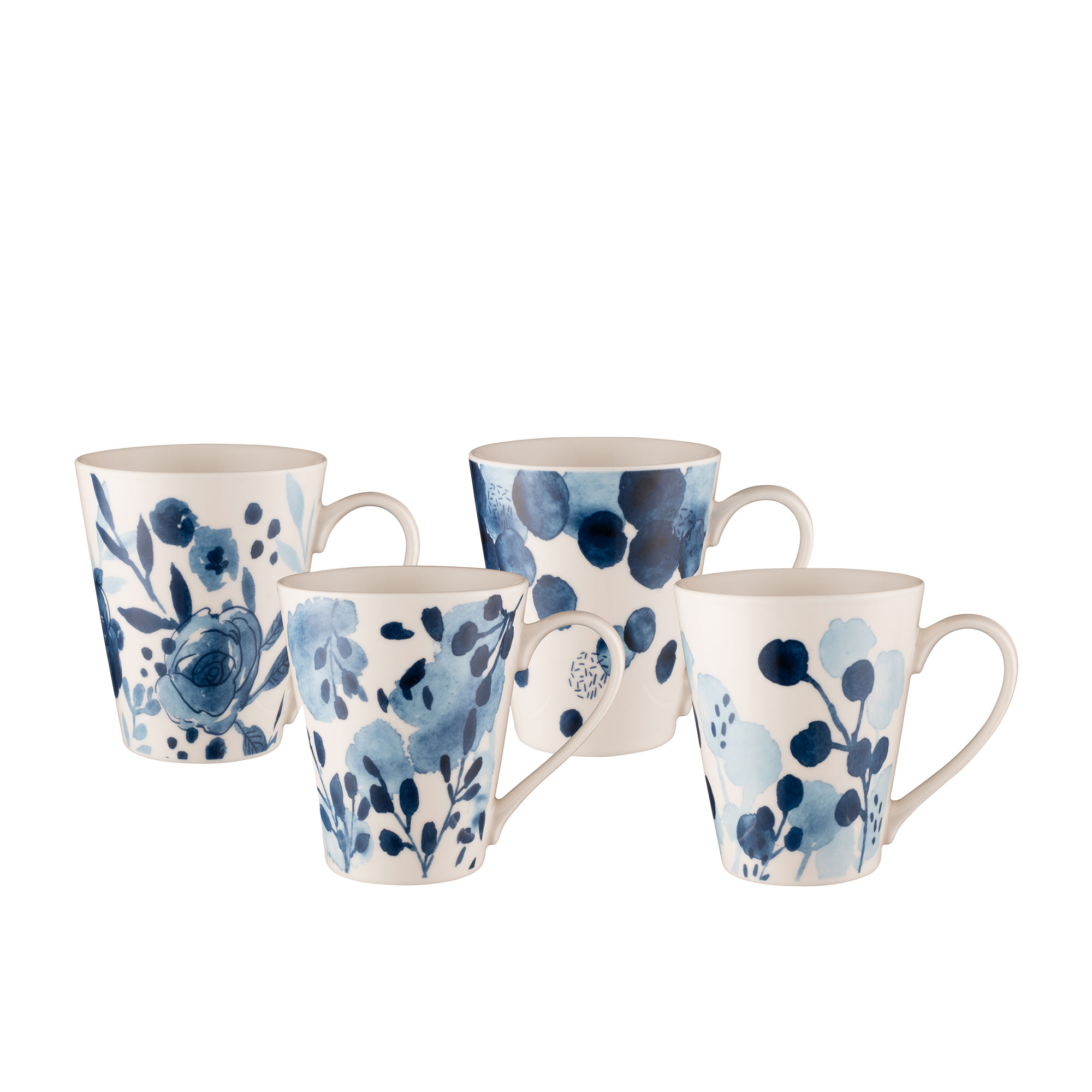 Bundanoon Mug Company 4pc Mug Set 400ml Sapphire Blooms