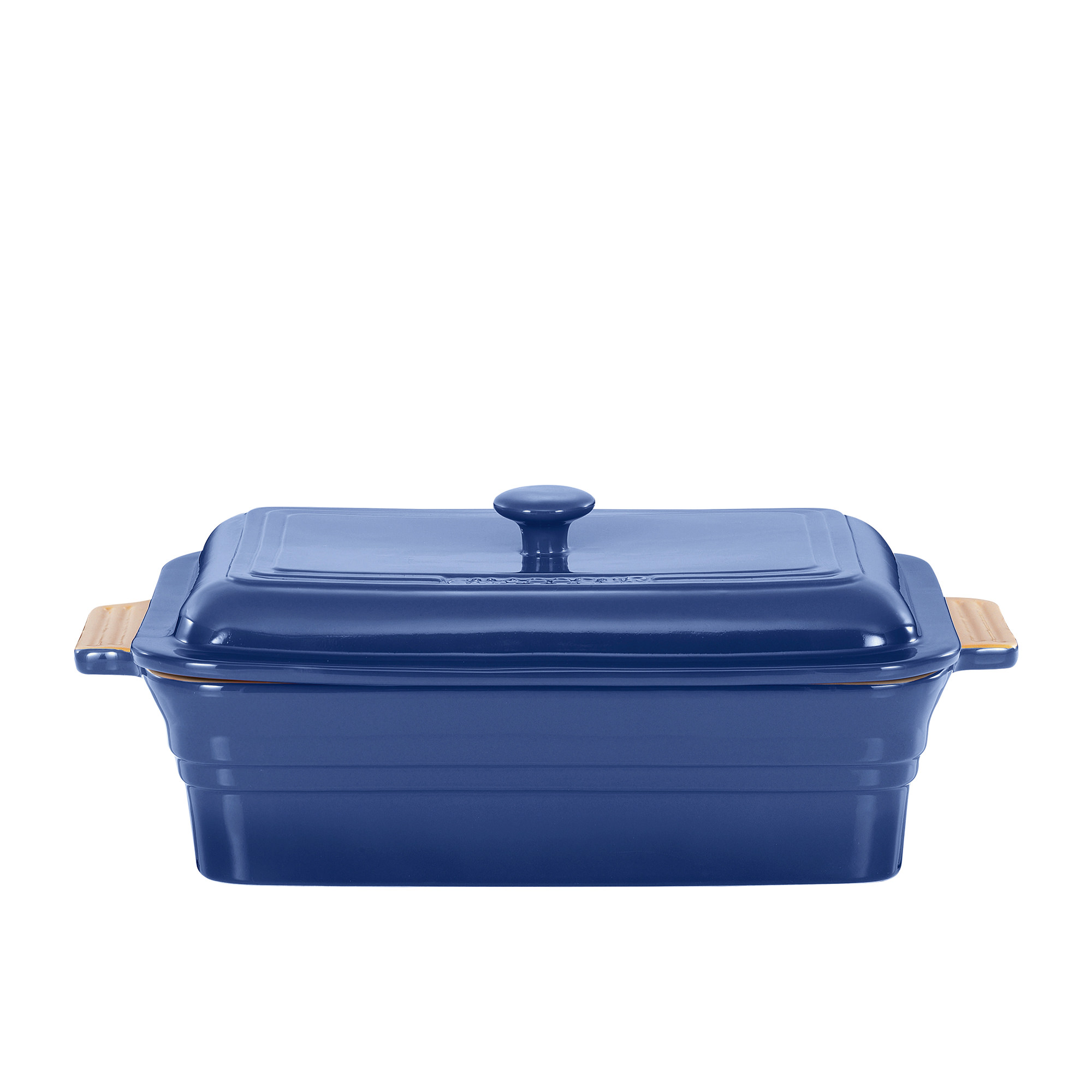 Chasseur La Cuisson Rectangular Dish 40cm with Lid Sky Blue