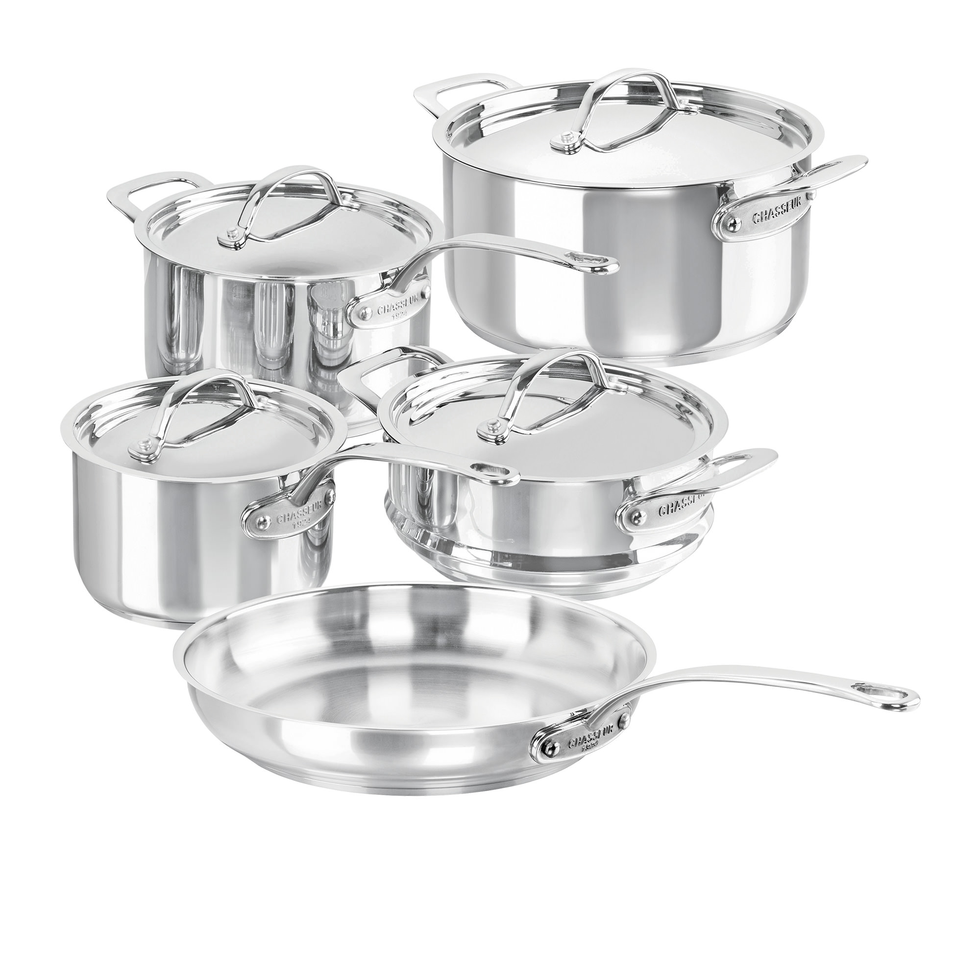 Chasseur Maison Stainless Steel 5pc Cookware Set