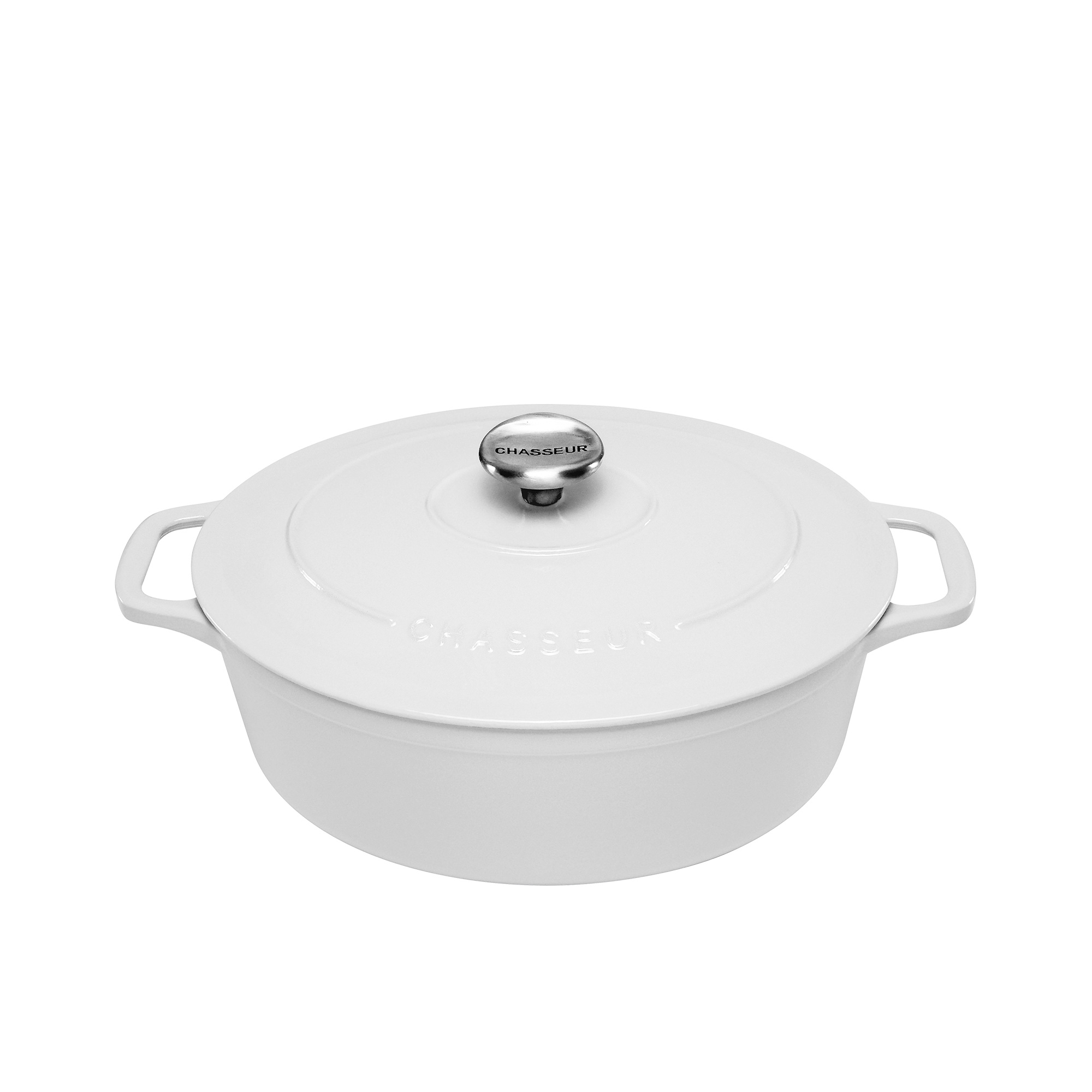 Chasseur Oval French Oven 27cm - 4L Brilliant White