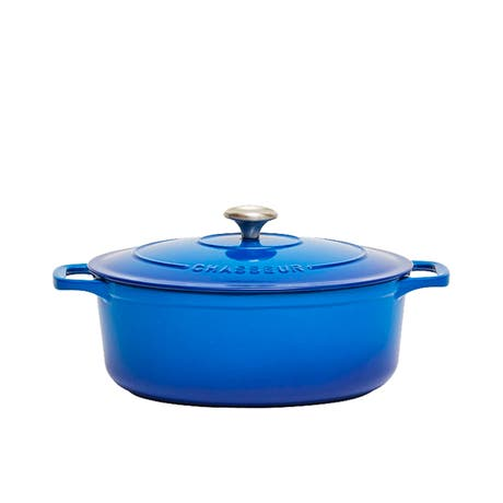 Chasseur Oval French Oven 27cm - 4L Imperial Blue