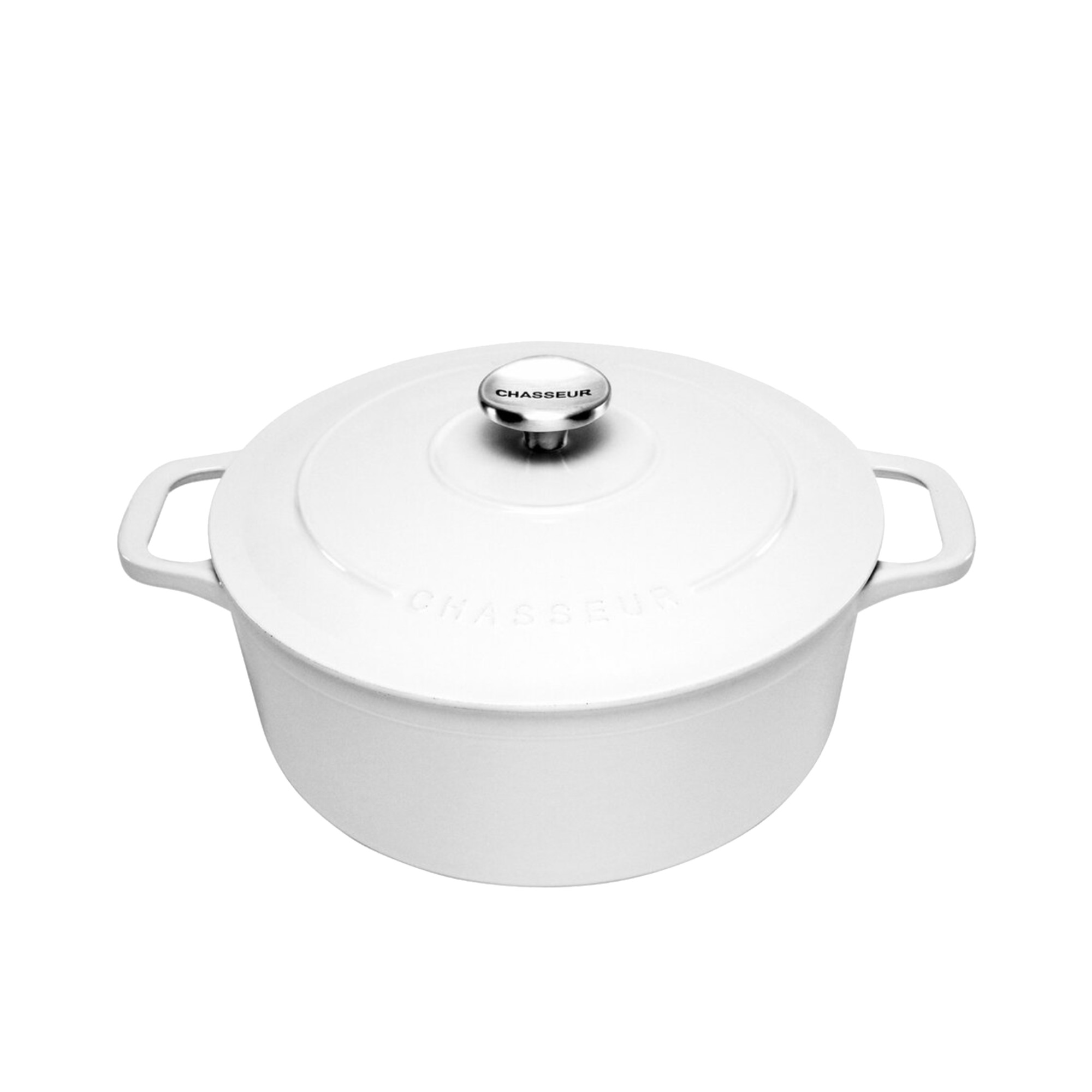 Chasseur Round French Oven 24cm - 4L Brilliant White