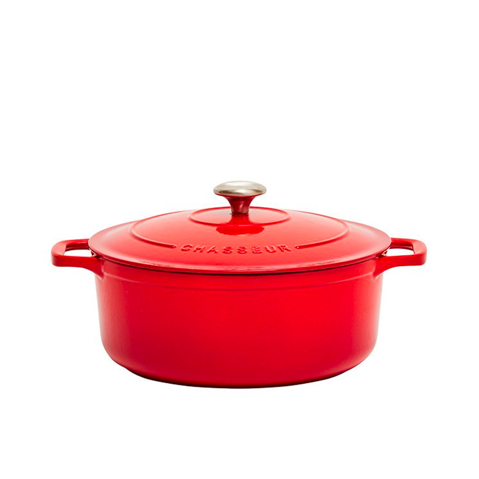 Chasseur Round French Oven 24cm - 4L Chilli Red