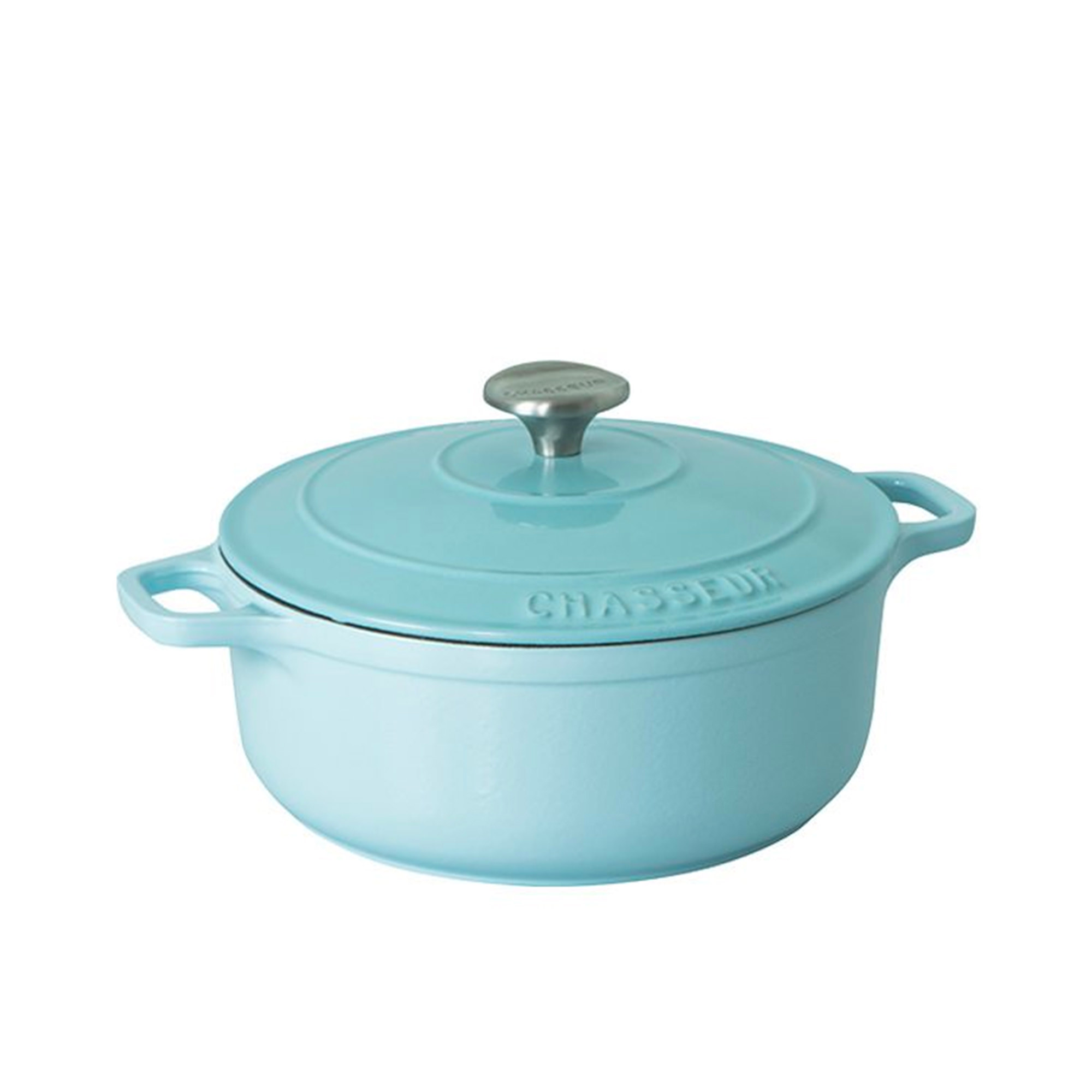 Chasseur Round French Oven 24cm - 4L Duck Egg Blue