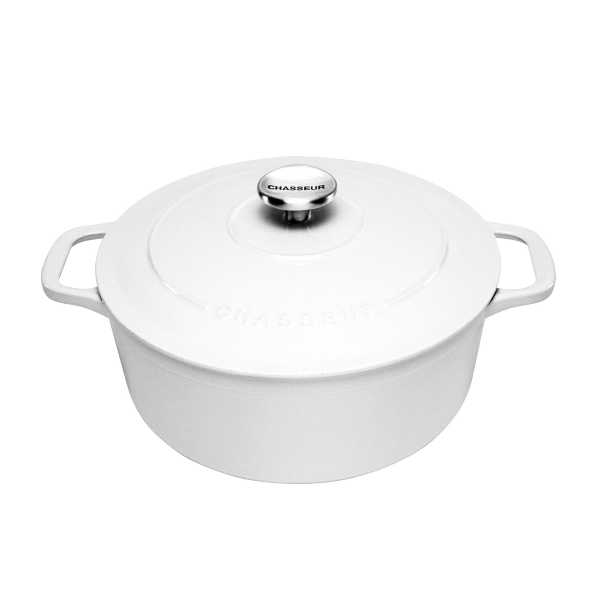 Chasseur Round French Oven 26cm - 5L Brilliant White