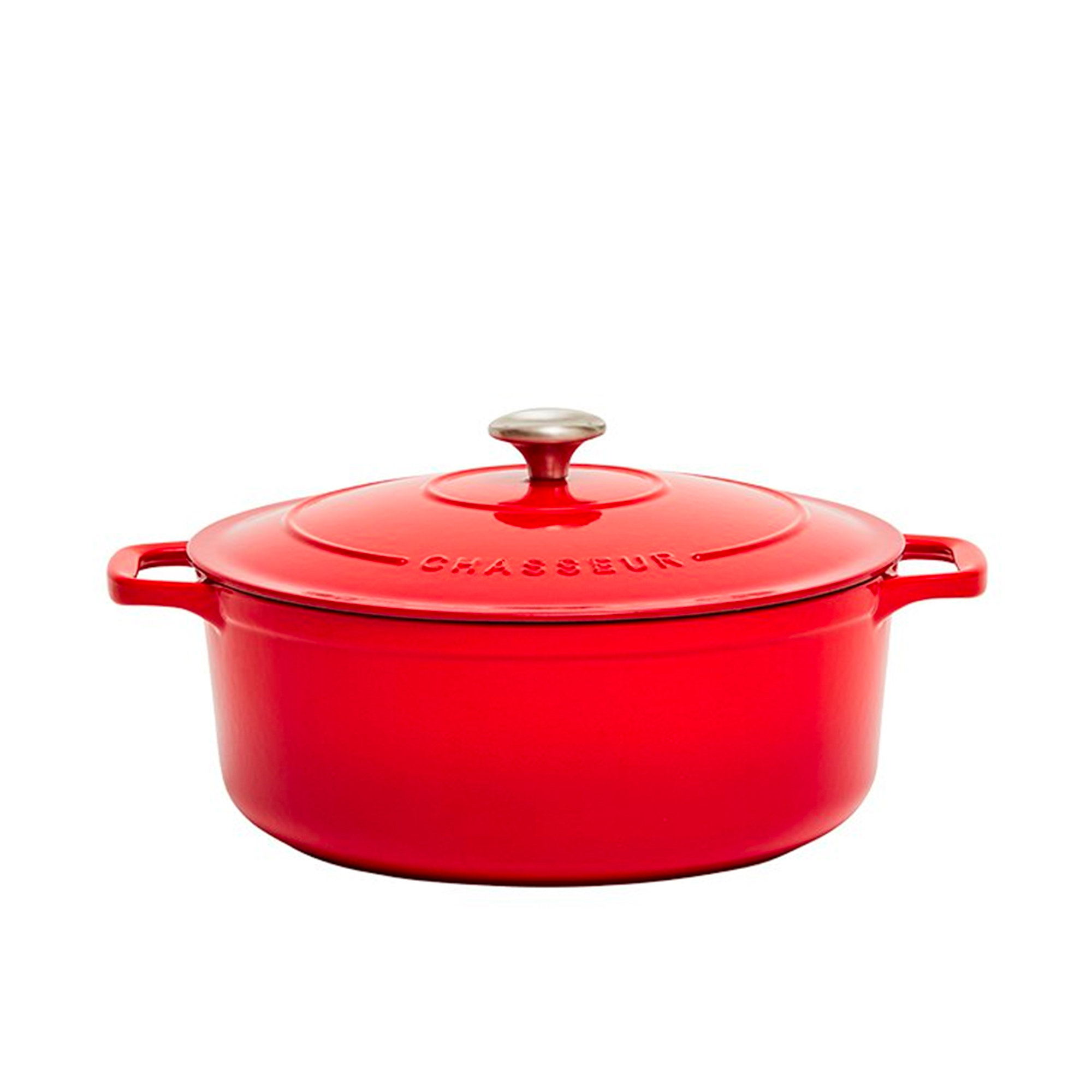 Chasseur Round French Oven 28cm - 6.1L Chilli Red