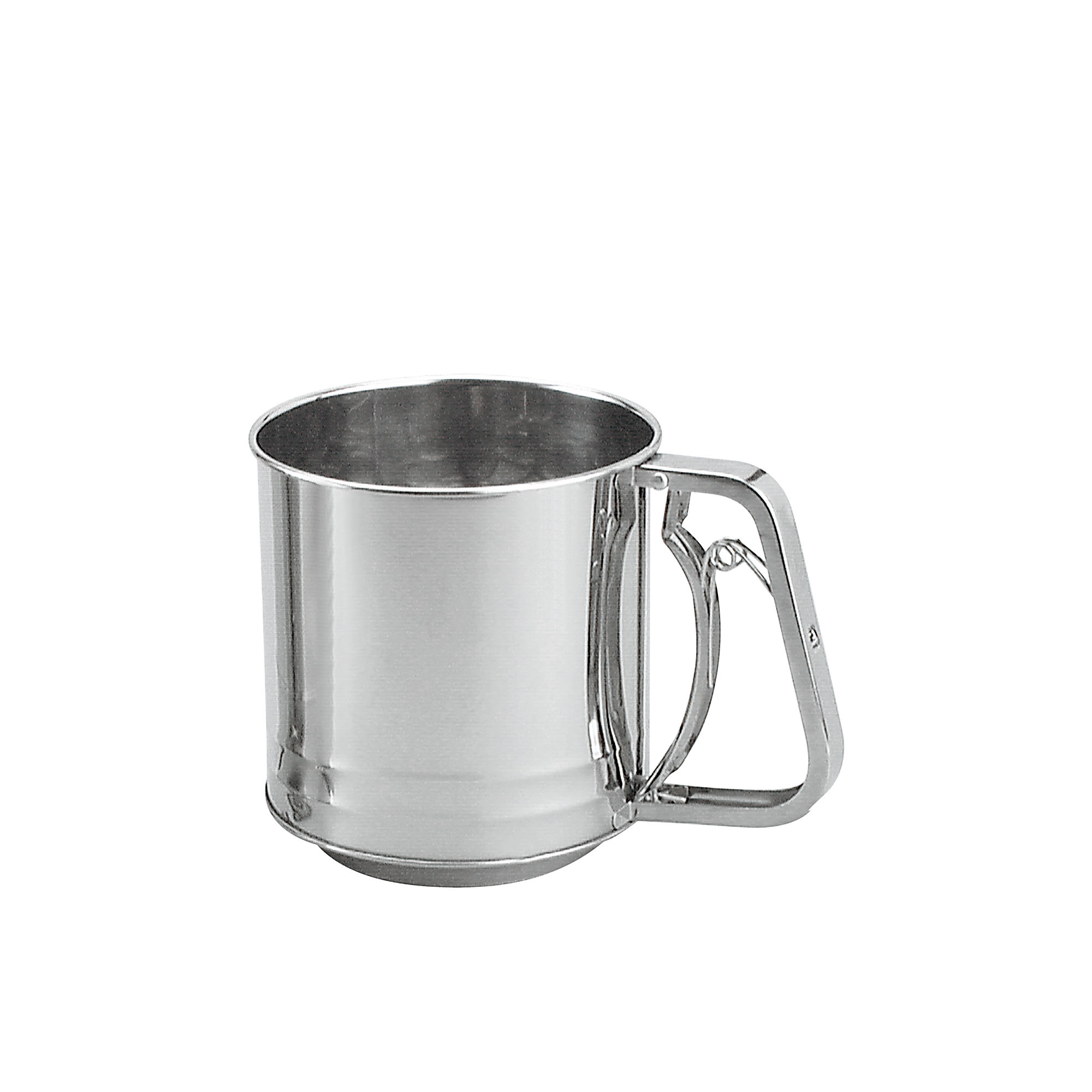 Chef Inox Stainless Steel Squeeze handle Flour Sifter 3 Cup