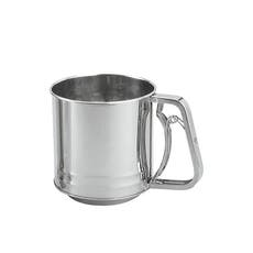 Stainless Steel Squeeze handle Flour Sifter 5 Cup