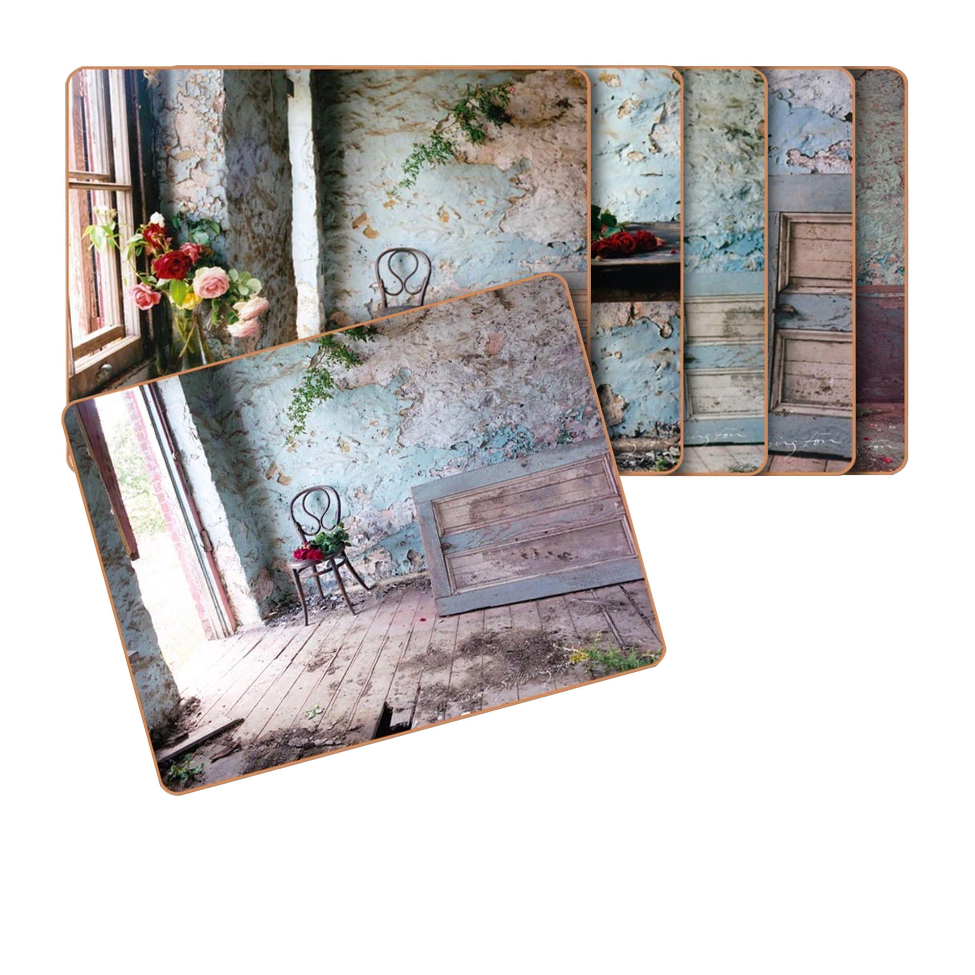 Cinnamon 6pc Blue Room Placemat Set 34x26.5cm