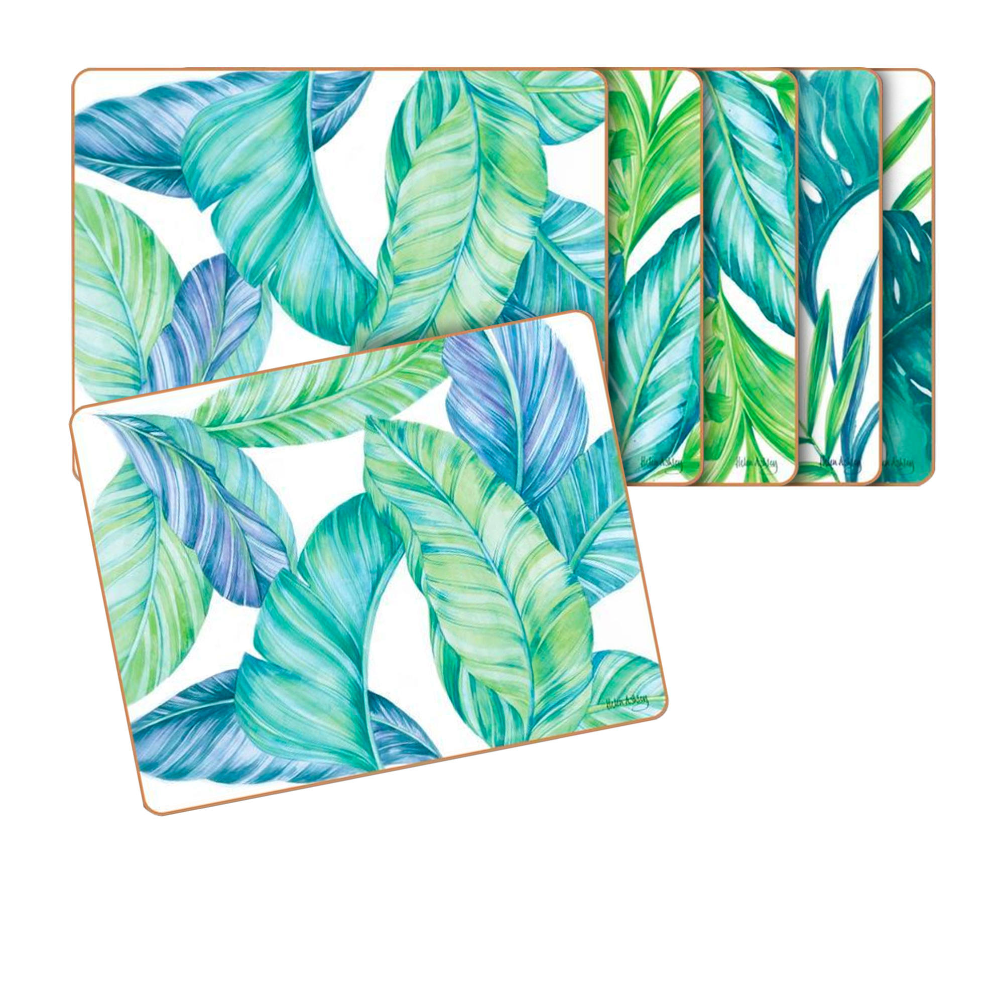 Cinnamon 6pc Tropical Leaves Placemat Set 34x26.5cm