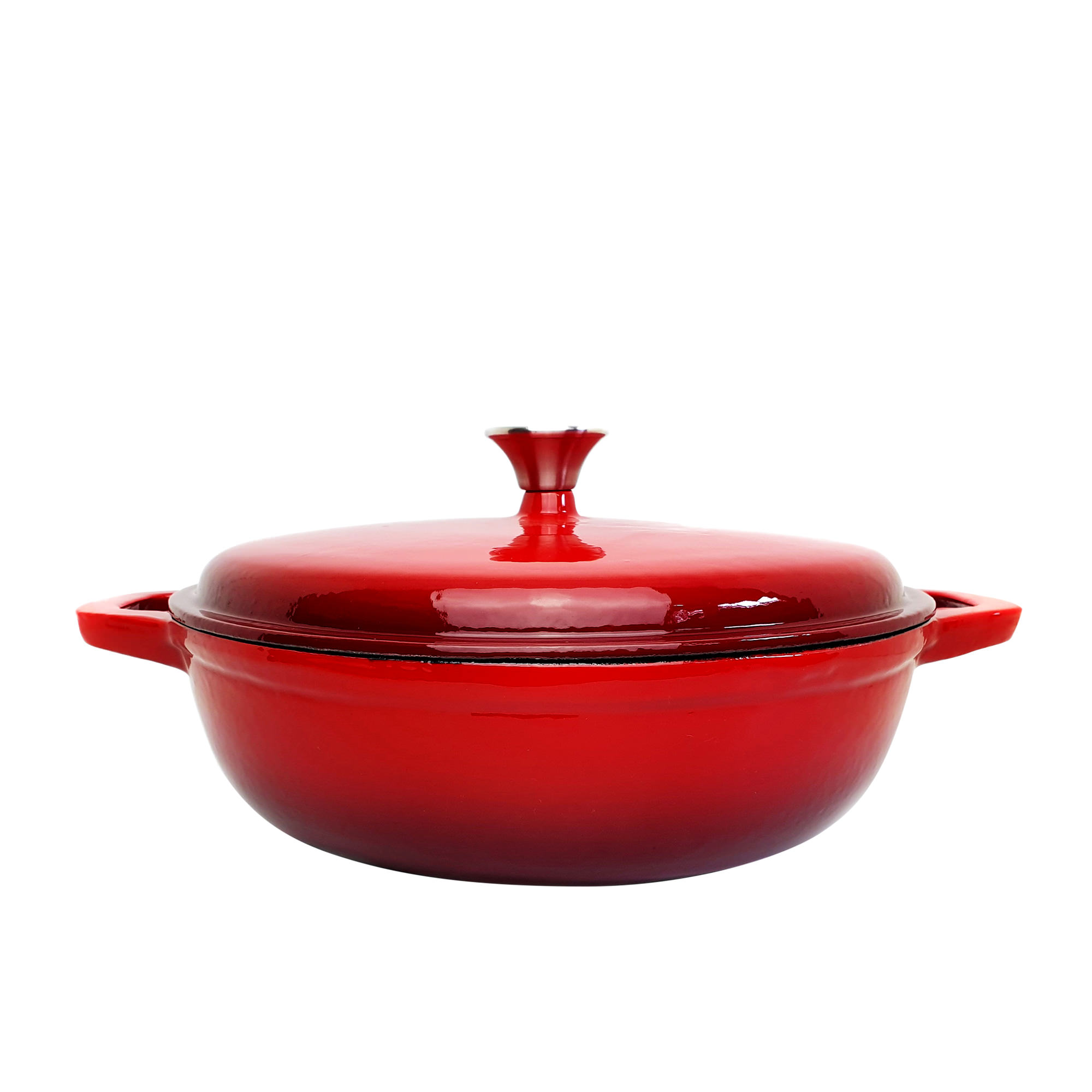 Classica Enamelled Cast Iron Saute Pan 30cm Red