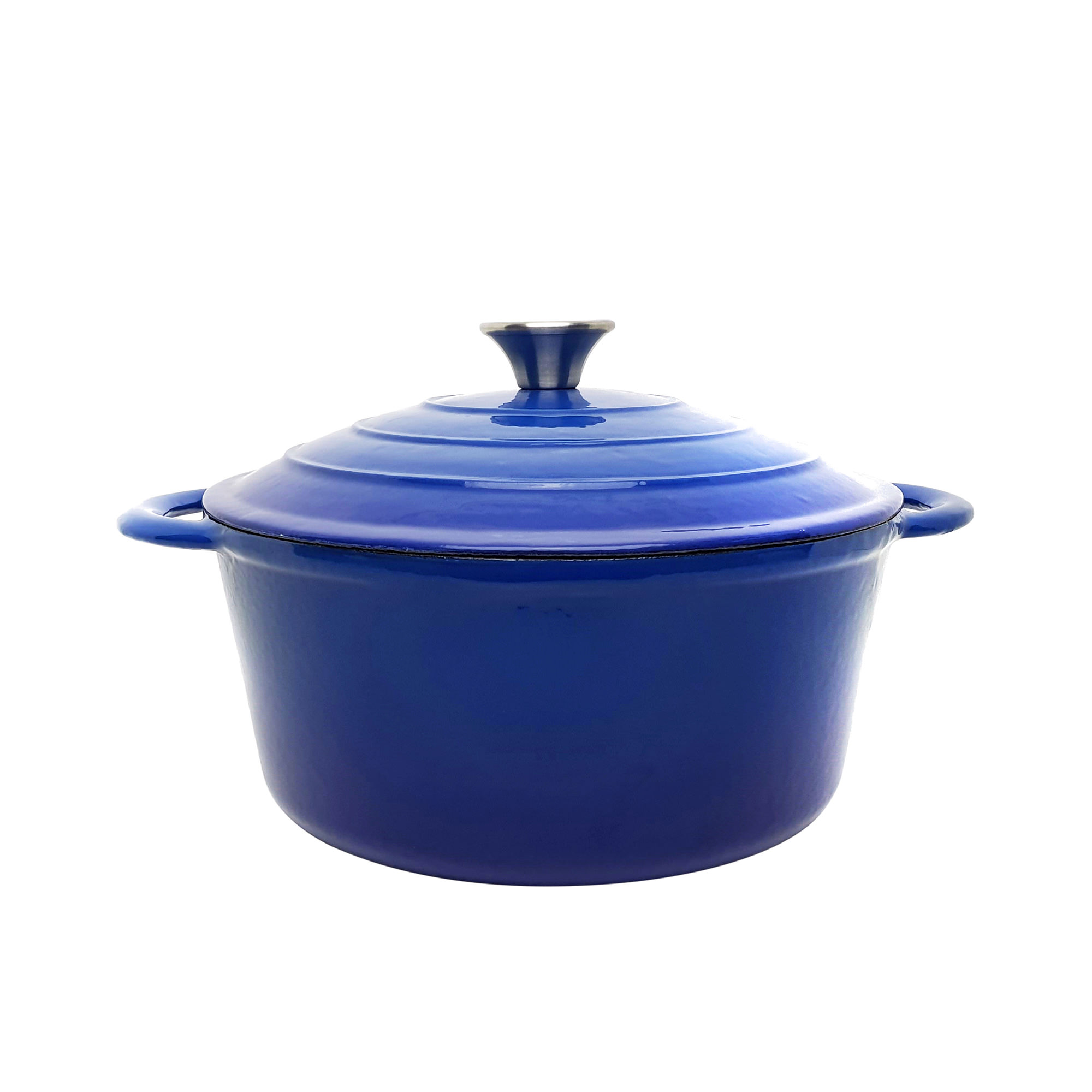 Classica Round Enamelled Cast Iron Dutch Oven 26cm - 5.5L Blue