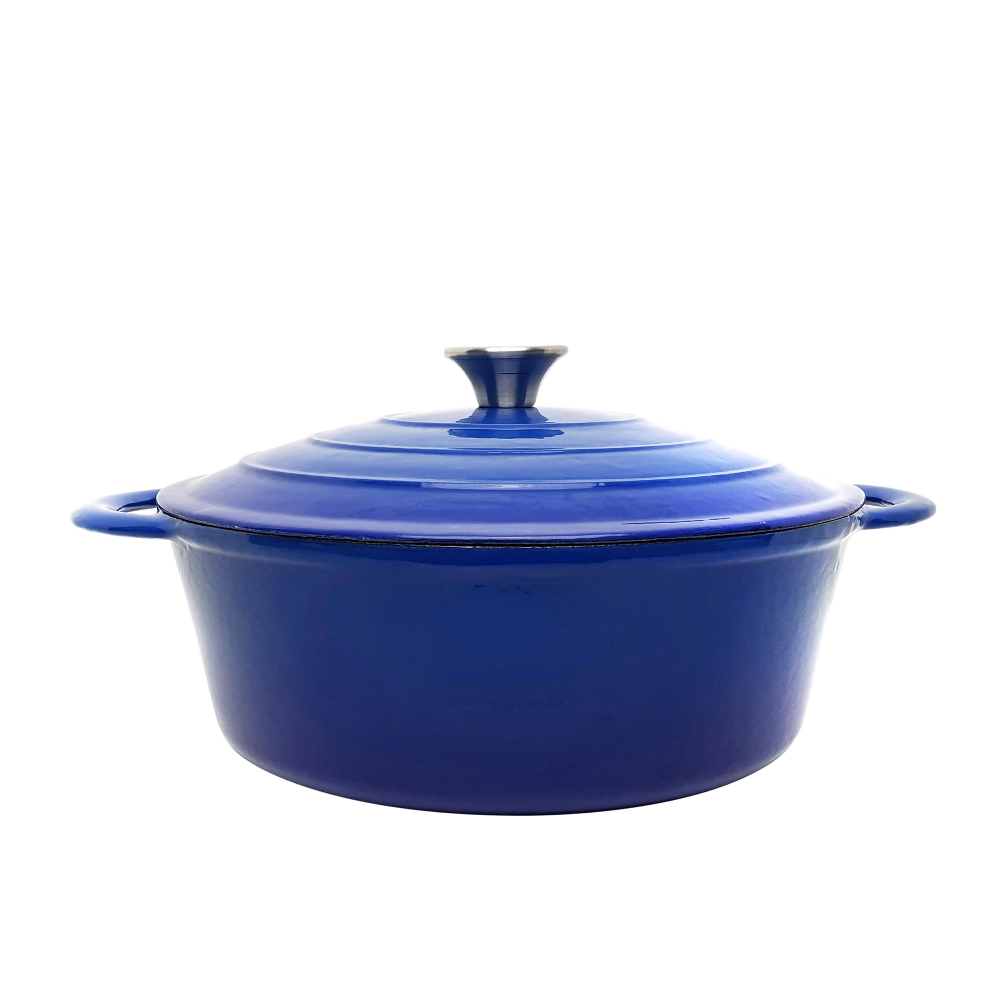Classica Round Enamelled Cast Iron Dutch Oven 28cm - 6.6L Blue