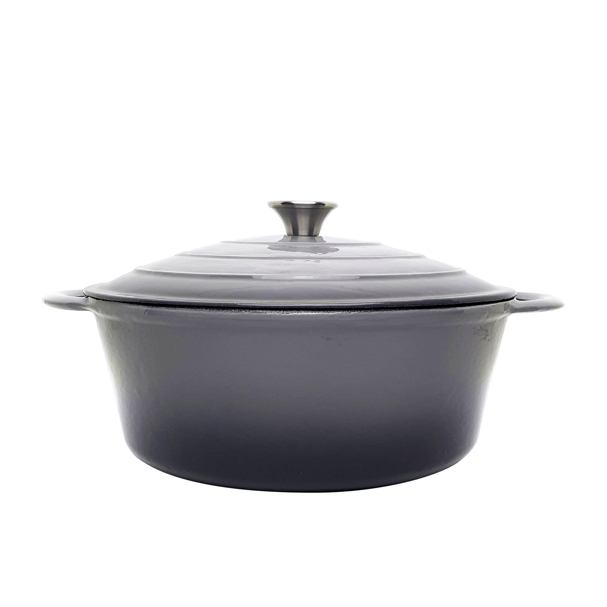 Classica Round Enamelled Cast Iron Dutch Oven 28cm - 6.6L Grey