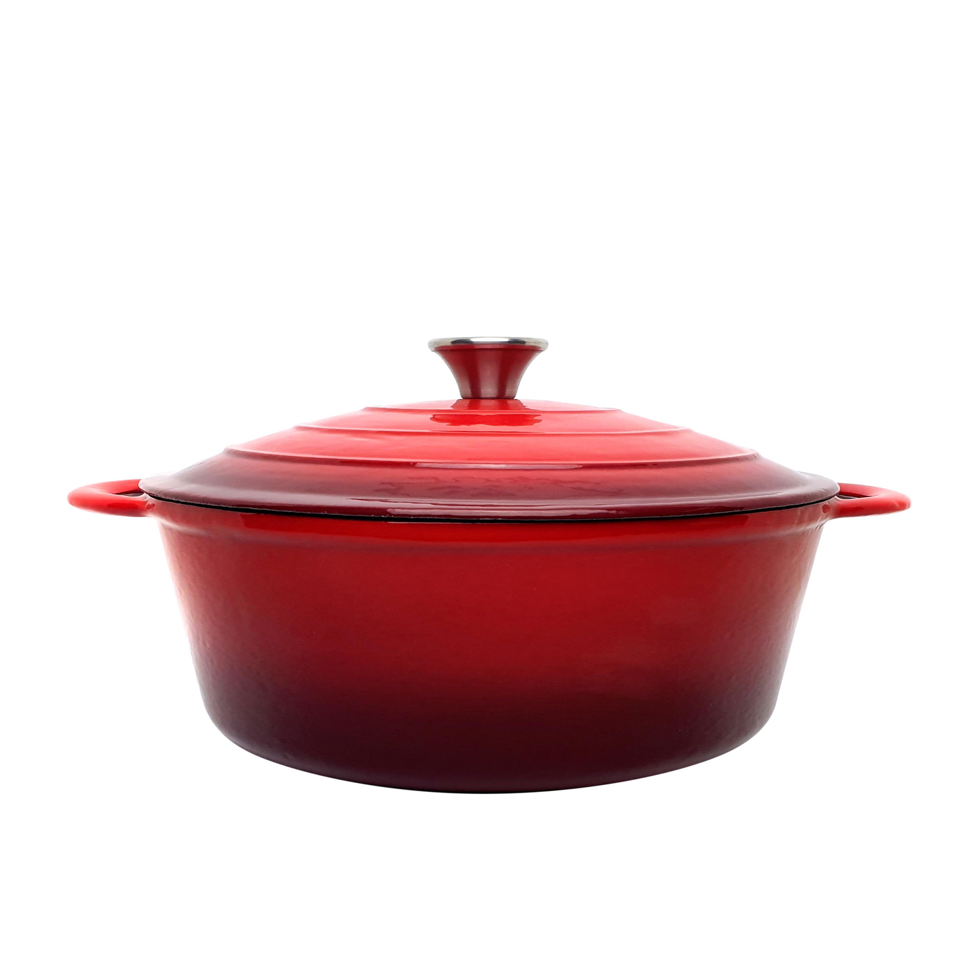 Classica Round Enamelled Cast Iron Dutch Oven 28cm - 6.6L Red