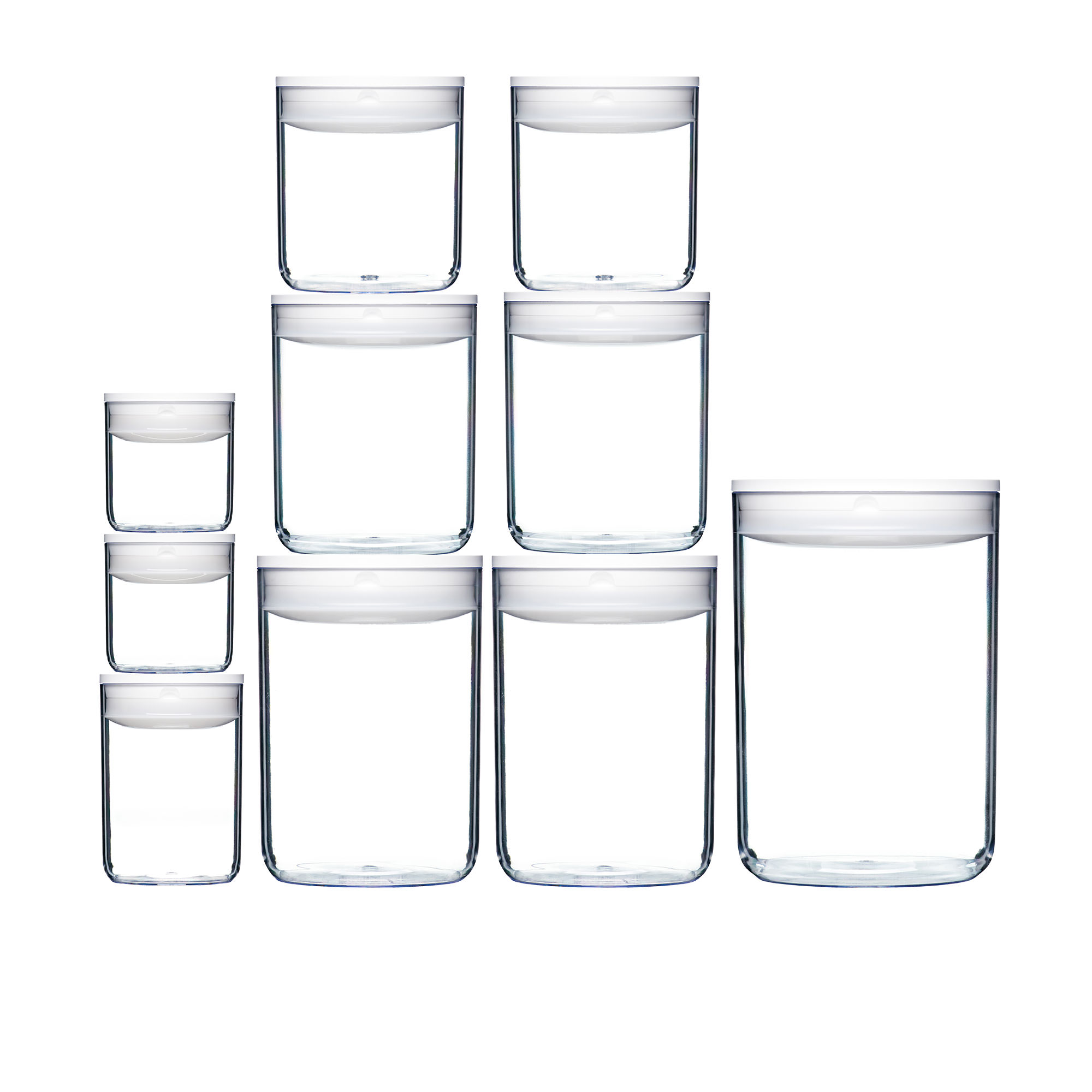 ClickClack Pantry Round Container Set 10pc