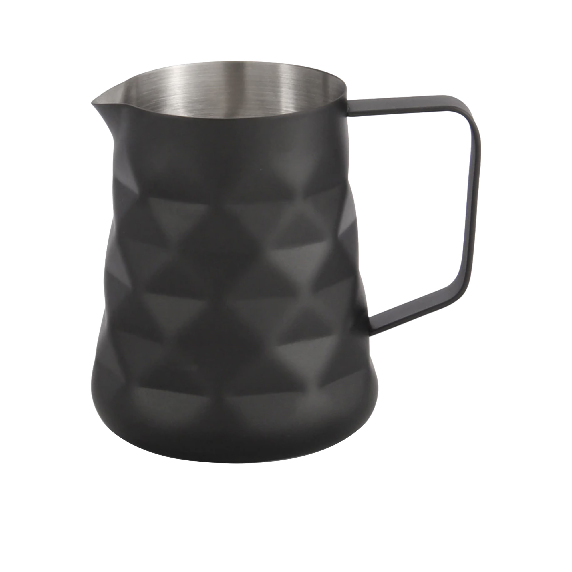 Coffee Culture Diamond Milk Frothing Jug 600ml Matte Black