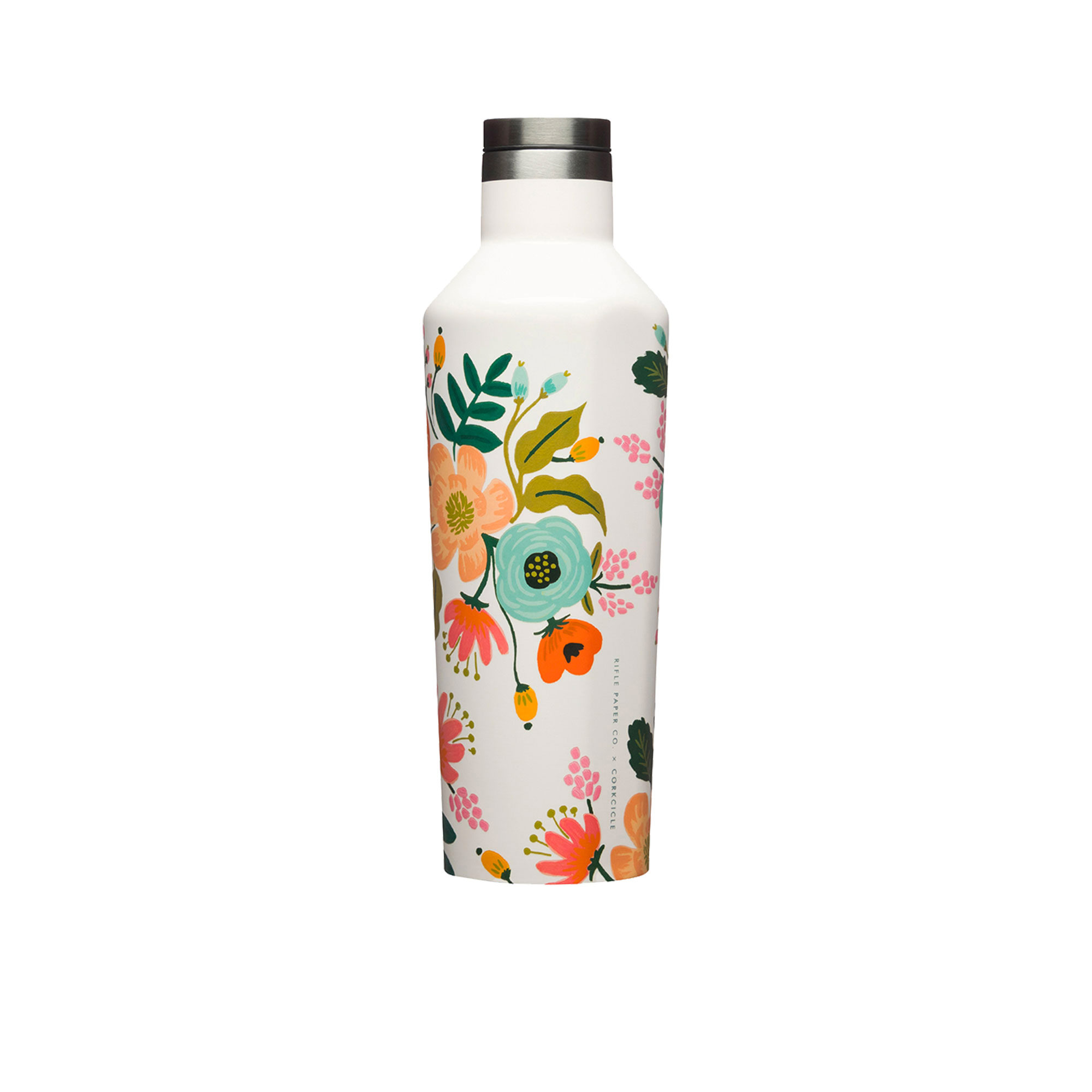 Corkcicle Rifle Paper Co. Canteen Insulated Drink Bottle 475ml Lively Floral