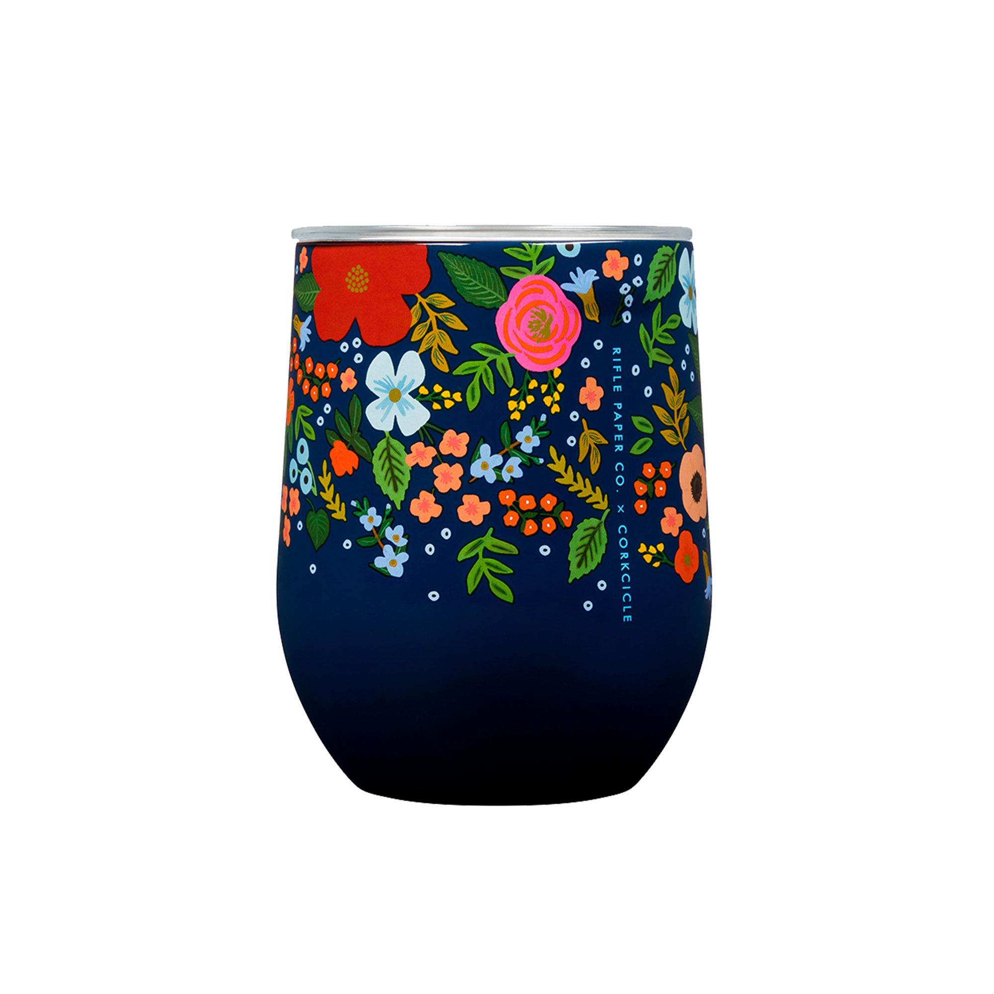 Corkcicle Rifle Paper Co. Stemless Insulated Wine Cup 335ml Wild Rose