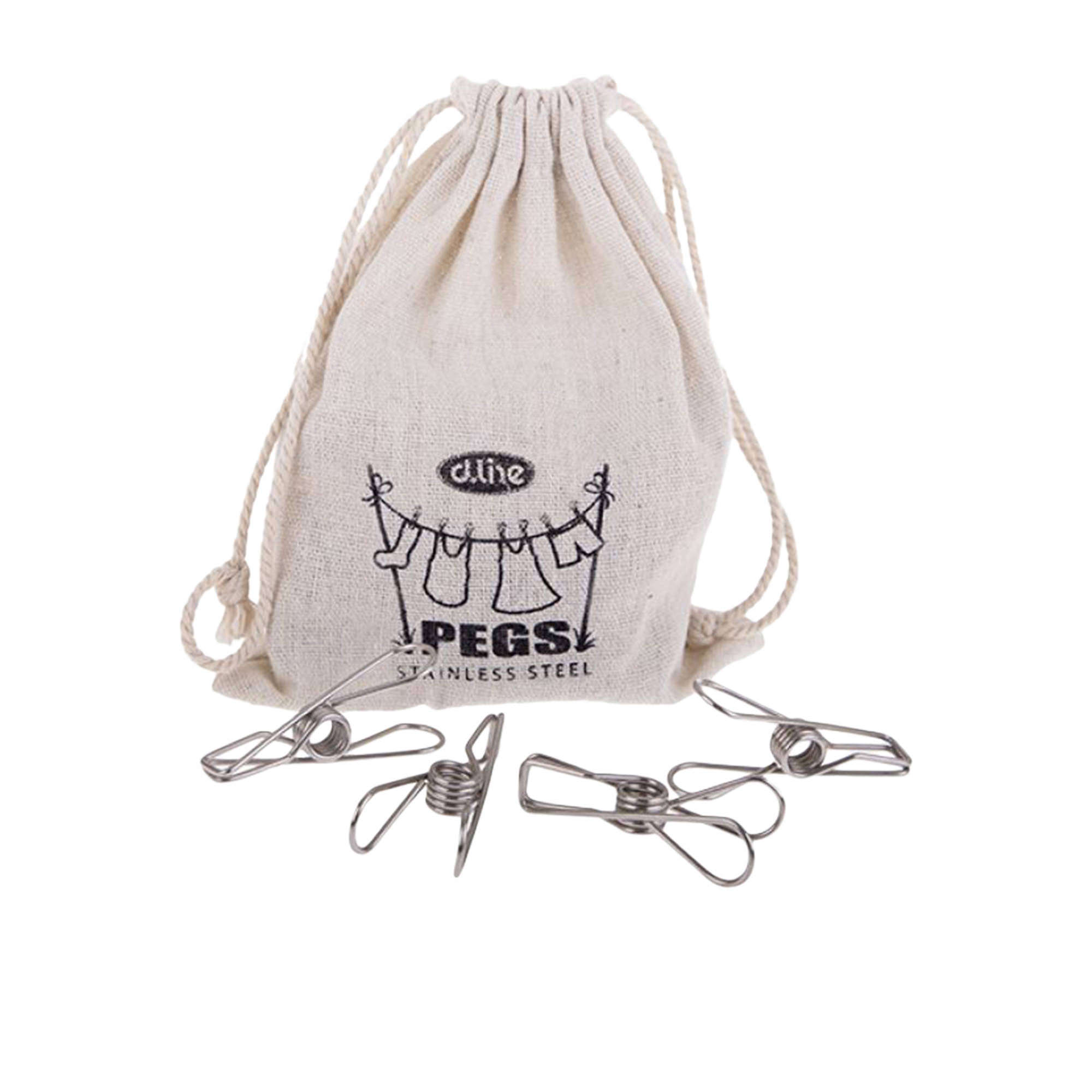D.Line 36pc Stainless Steel Wire Pegs in Hemp Bag