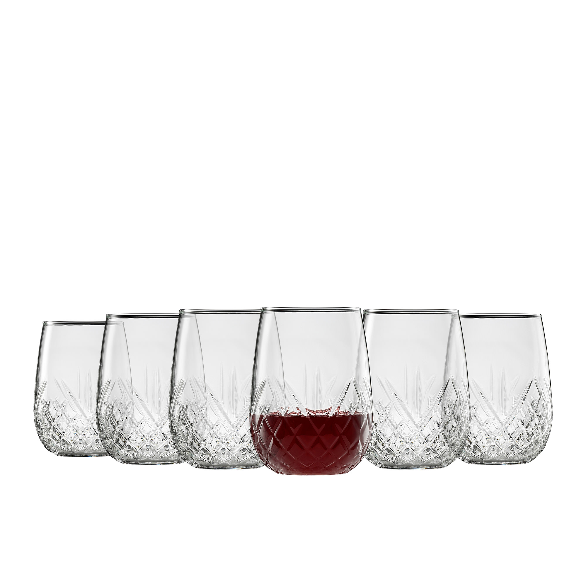 Ecology Carmen 6pc Stemless Wine Glass Set 490ml
